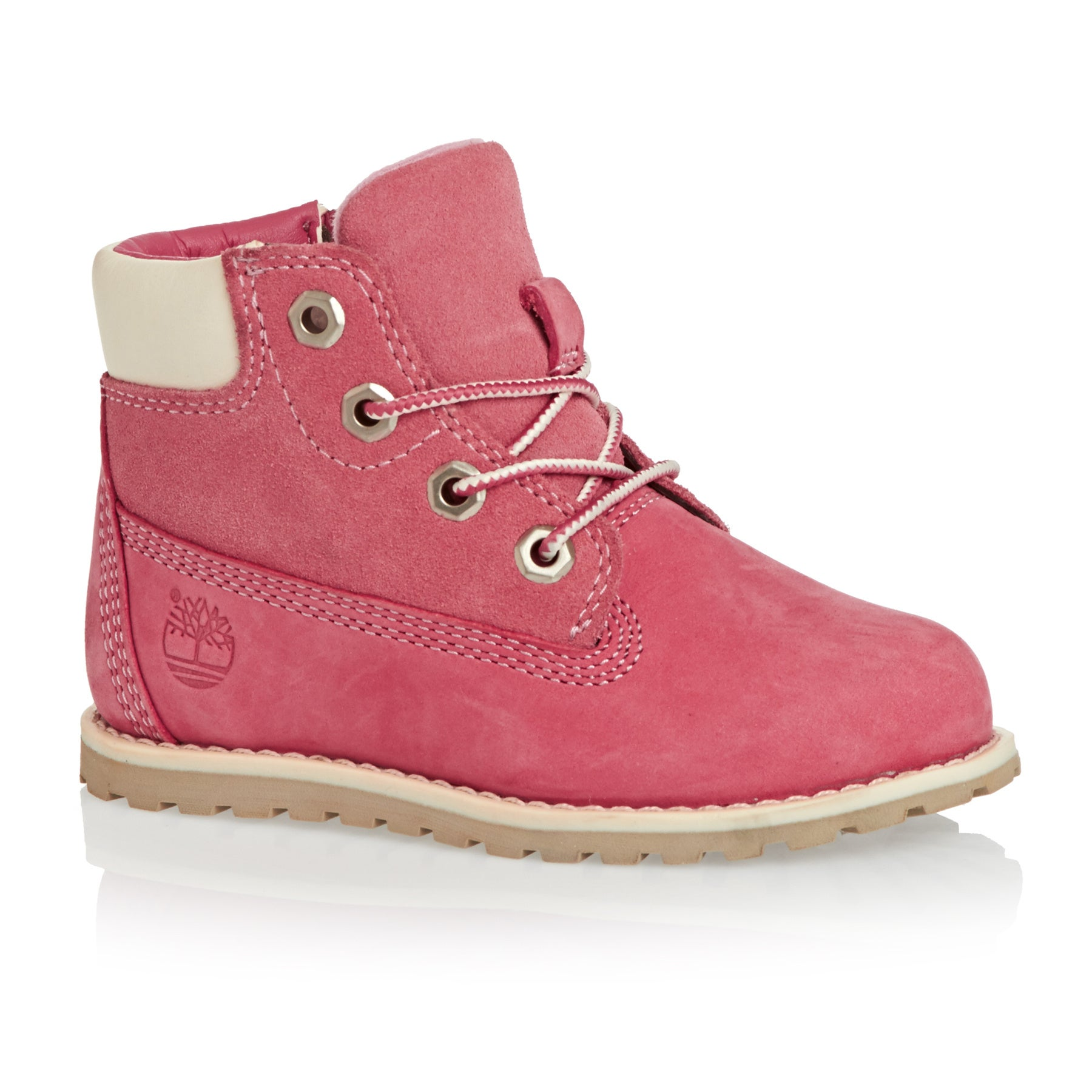 Timberland Pokey Pine 6in Side Zip Girls Boots - Pink Nubuck