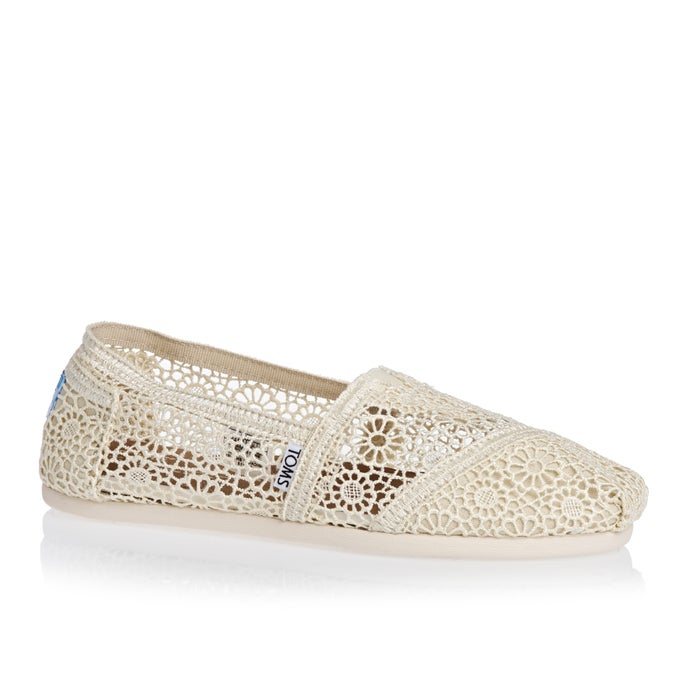 ebbe19b14fc Toms Crochet Alpargata Womens Slip On Shoes available from Surfdome
