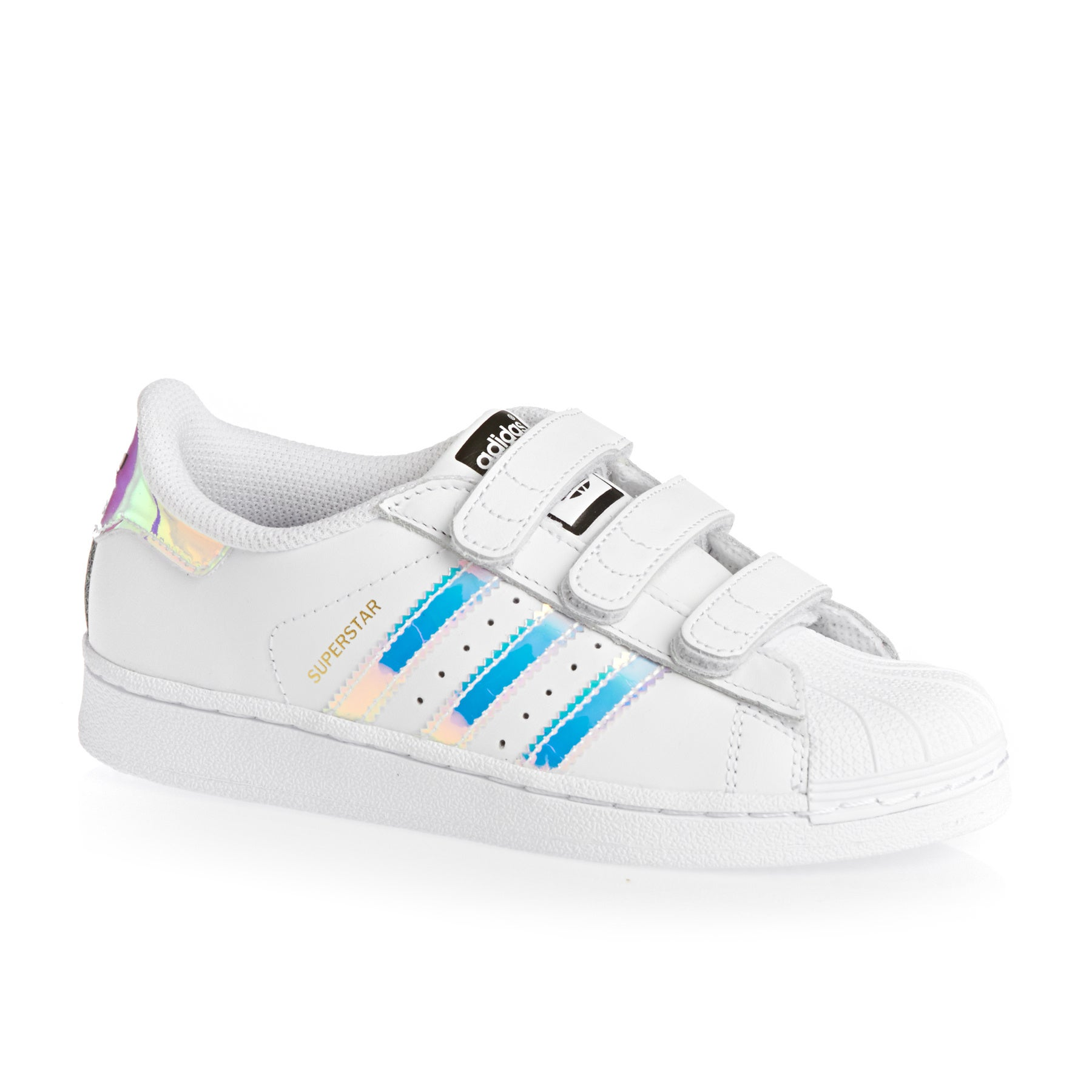 Adidas Originals Superstar CF Girls Shoes - White/metallic Silver