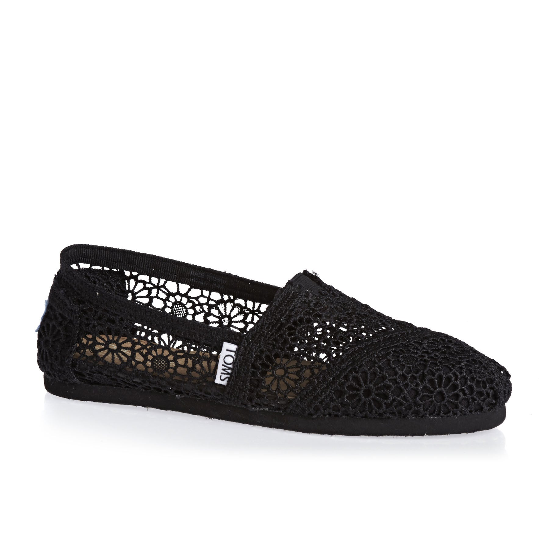 Scarpe Slip On Donna Toms Crochet Alpargata - Black