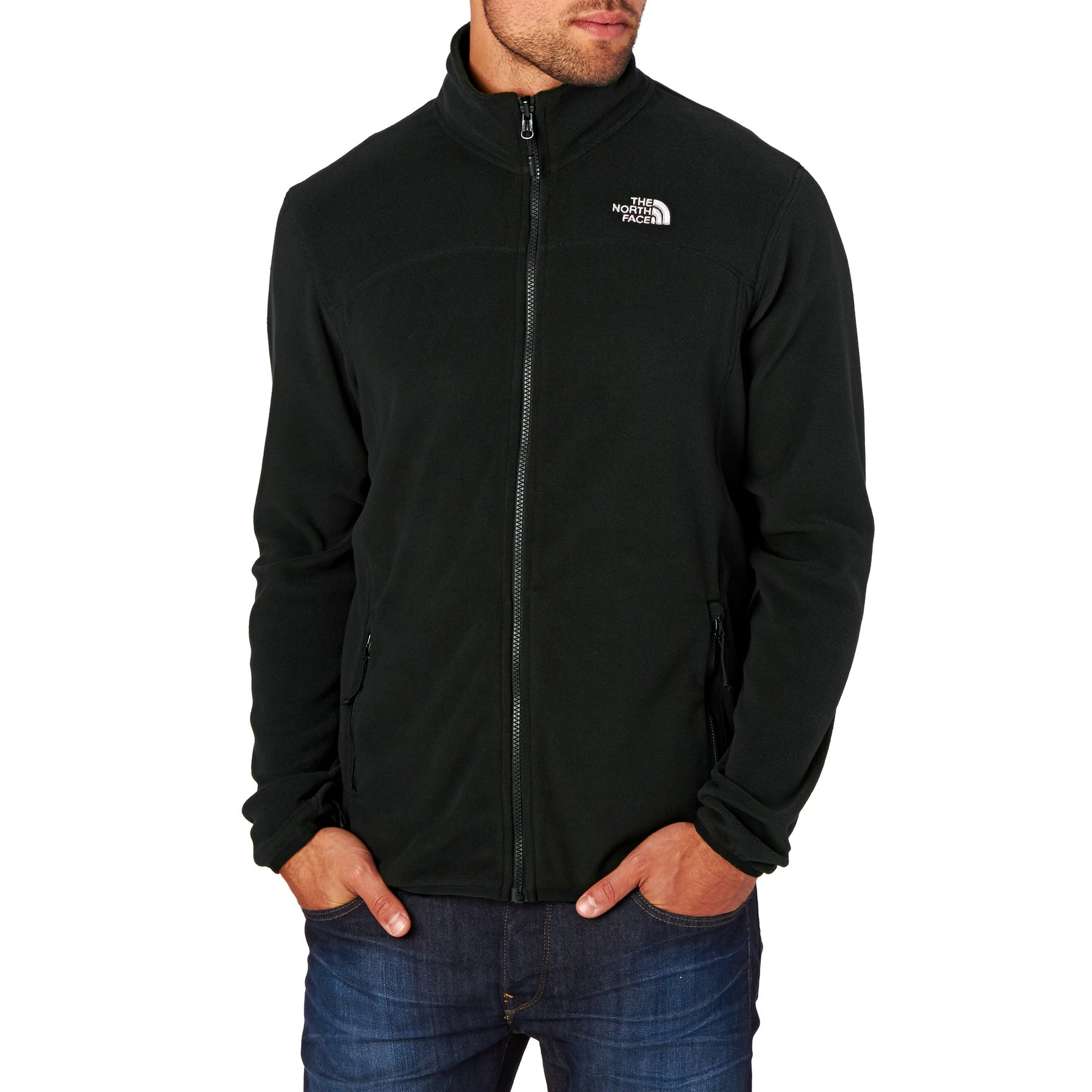 North Face 100 Glacier Full Zip Fleece - TNF Black