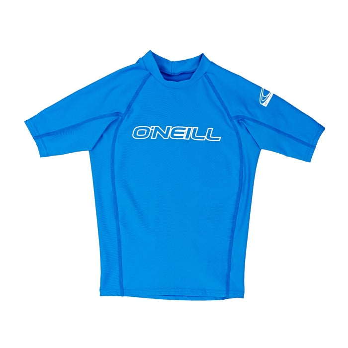 O Neill Basic Skins Short Sleeve Crew Boys Rash Vest
