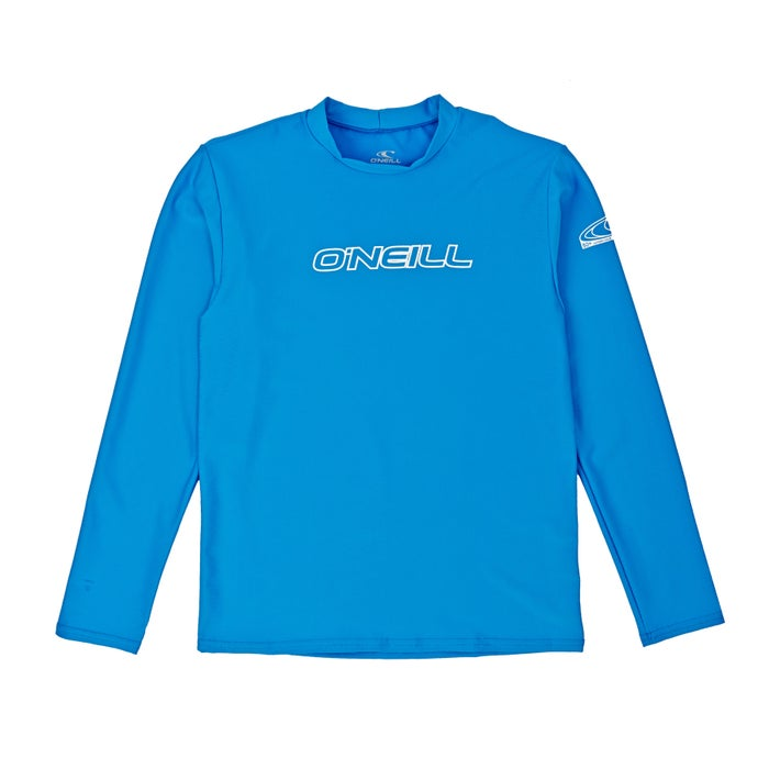O Neill Basic Skins Long Sleeve Tee Boys Rash Vest
