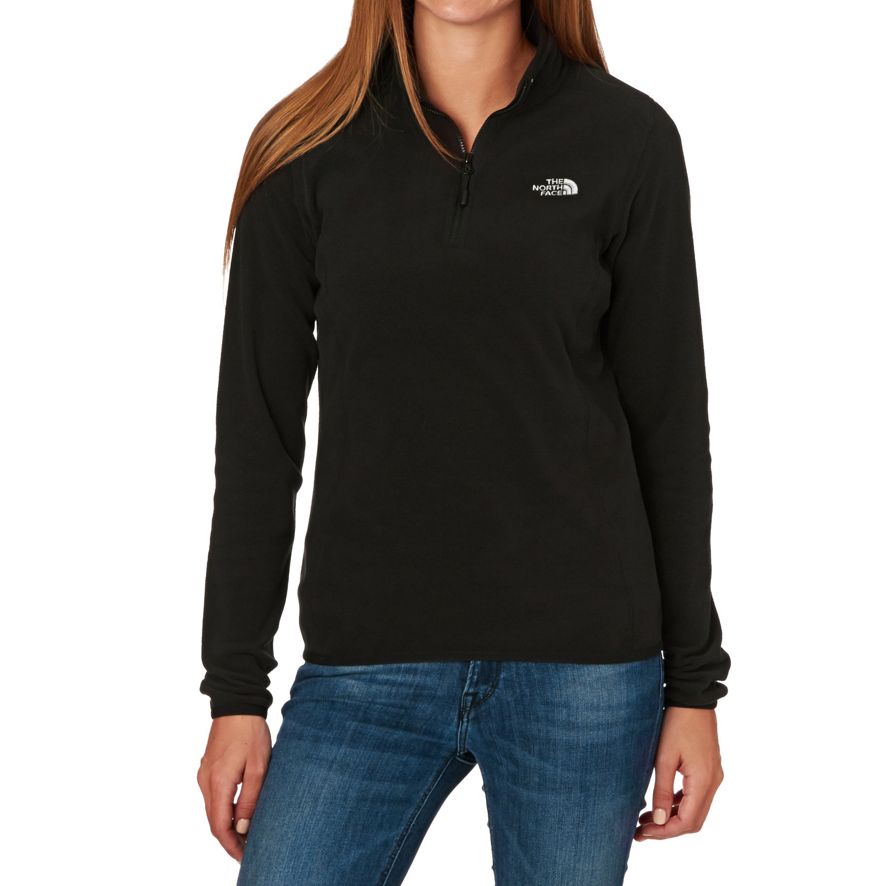 North Face 100 Glacier Quarter Zip Womens Fleece - TNF Black
