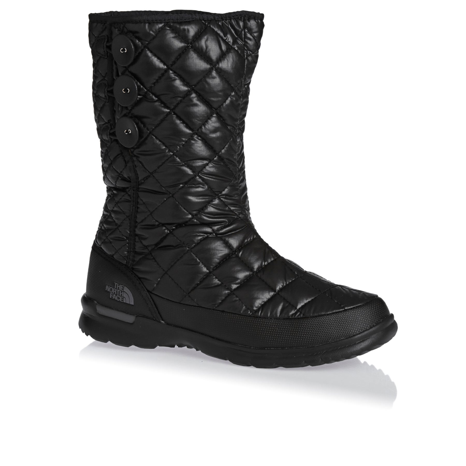 North Face Womens Thermoball Buttonup Insulated Womens Boots - Black