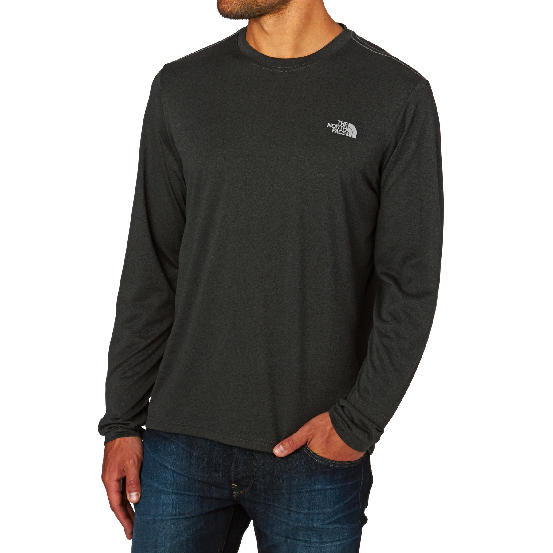 North Face Long Sleeve Reaxion Amp TShirt スポーツトップス - TNF Dark Grey Heather