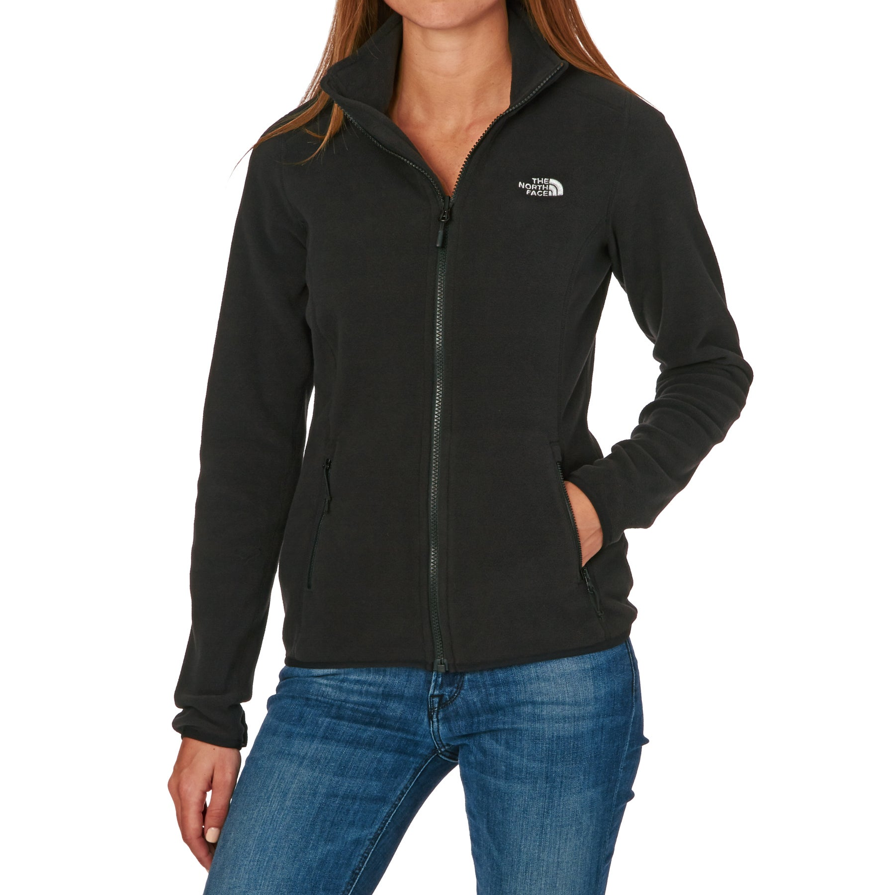 North Face 100 Glacier Full Zip Womens Fleece - TNF Black