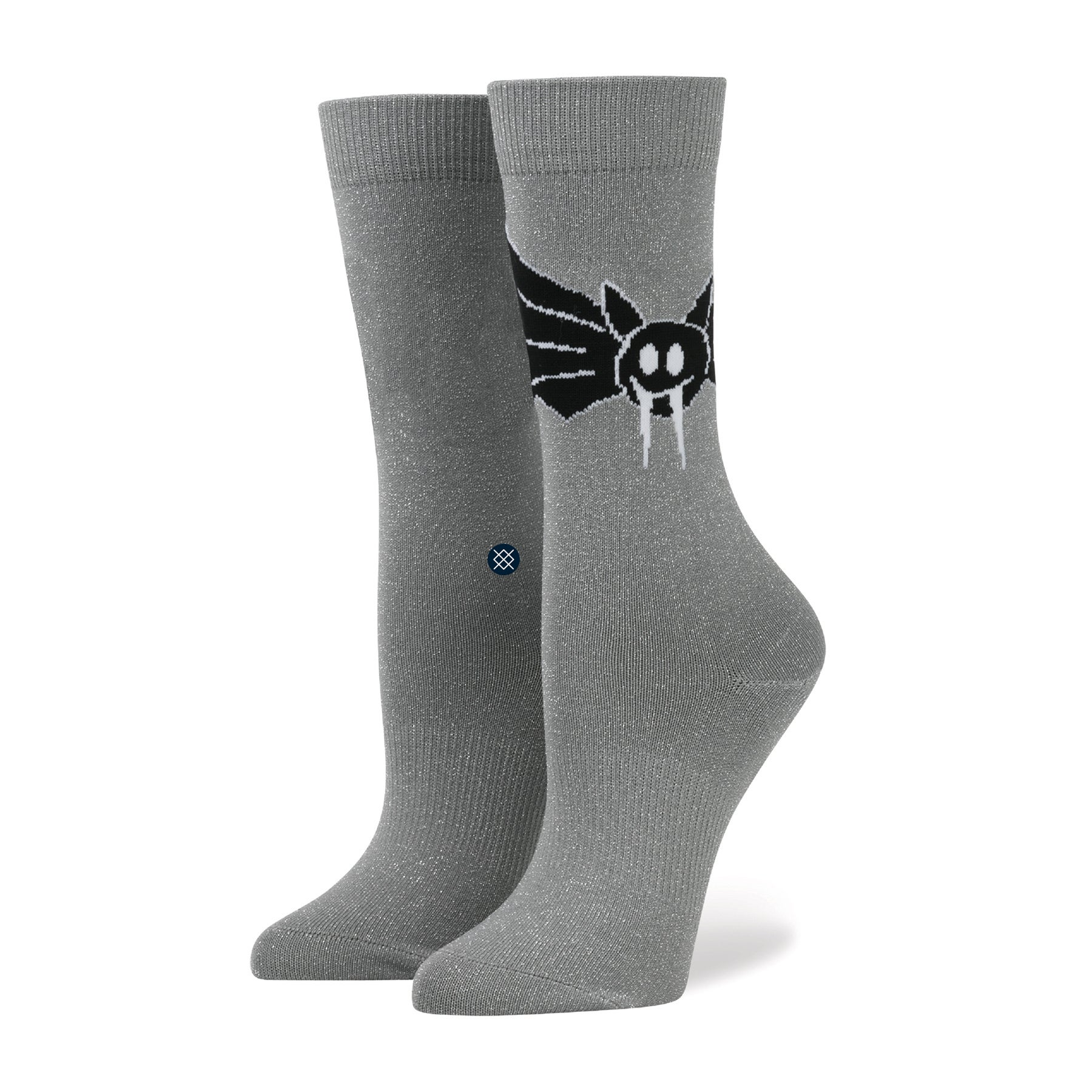 Stance Soko Bat Womens Socks - Silver