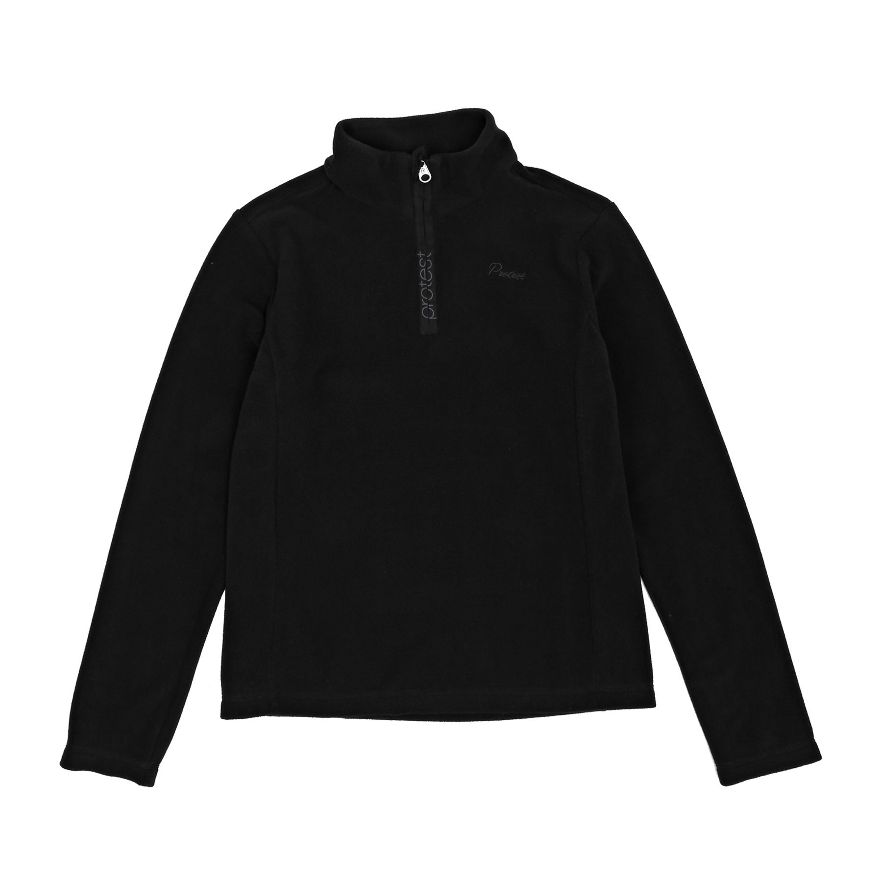 Protest Mutey Jr Quarter Zip Girls Fleece - Black
