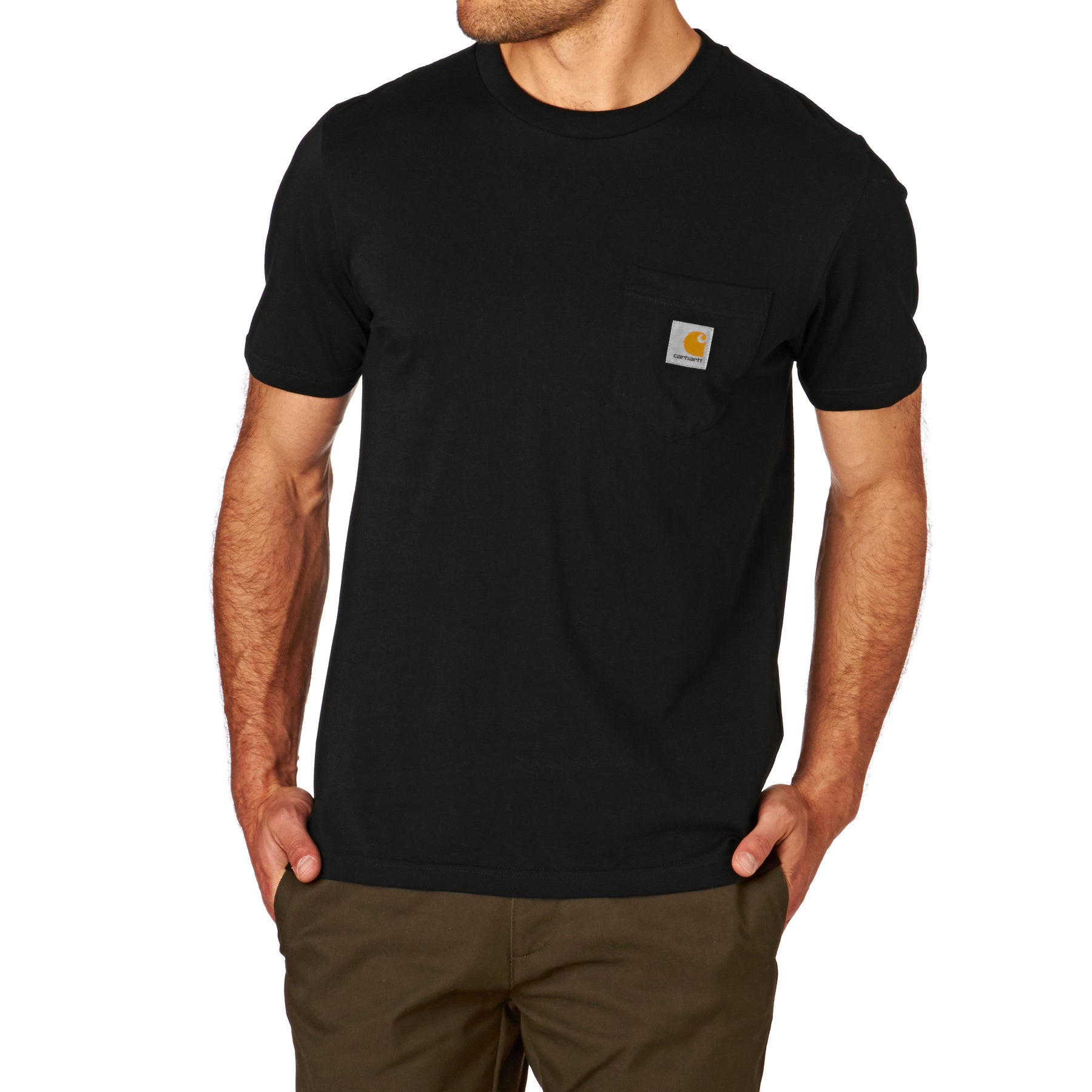 T-Shirt à Manche Courte Carhartt Pocket - Black