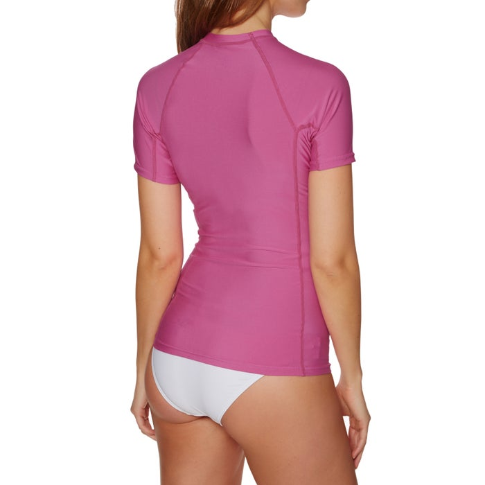 O Neill Basic Skins Short Sleeve Crew Womens Rash Vest