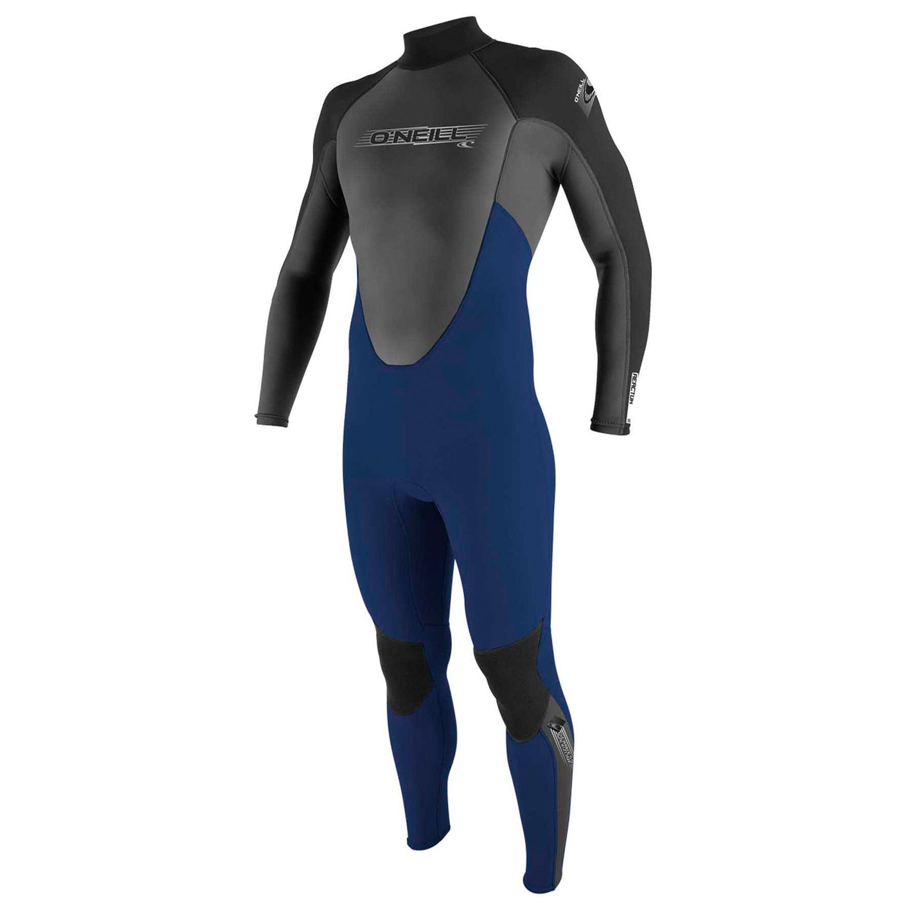 O Neill 3-2mm Reactor Back Zip Wetsuit - Navy/ Graphite/ Black