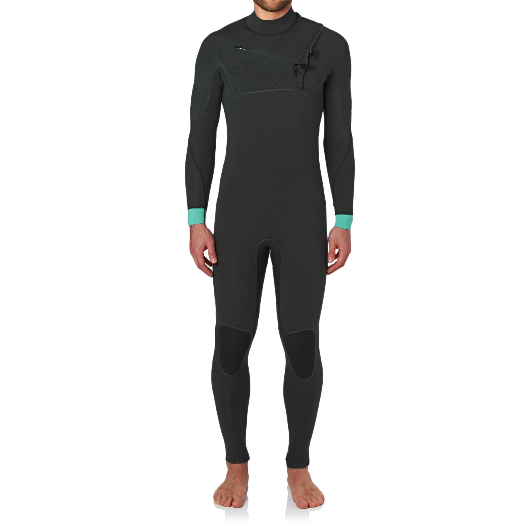 Vissla Eco Seas 3/2mm 2017 Chest Zip Wetsuit - Stealth