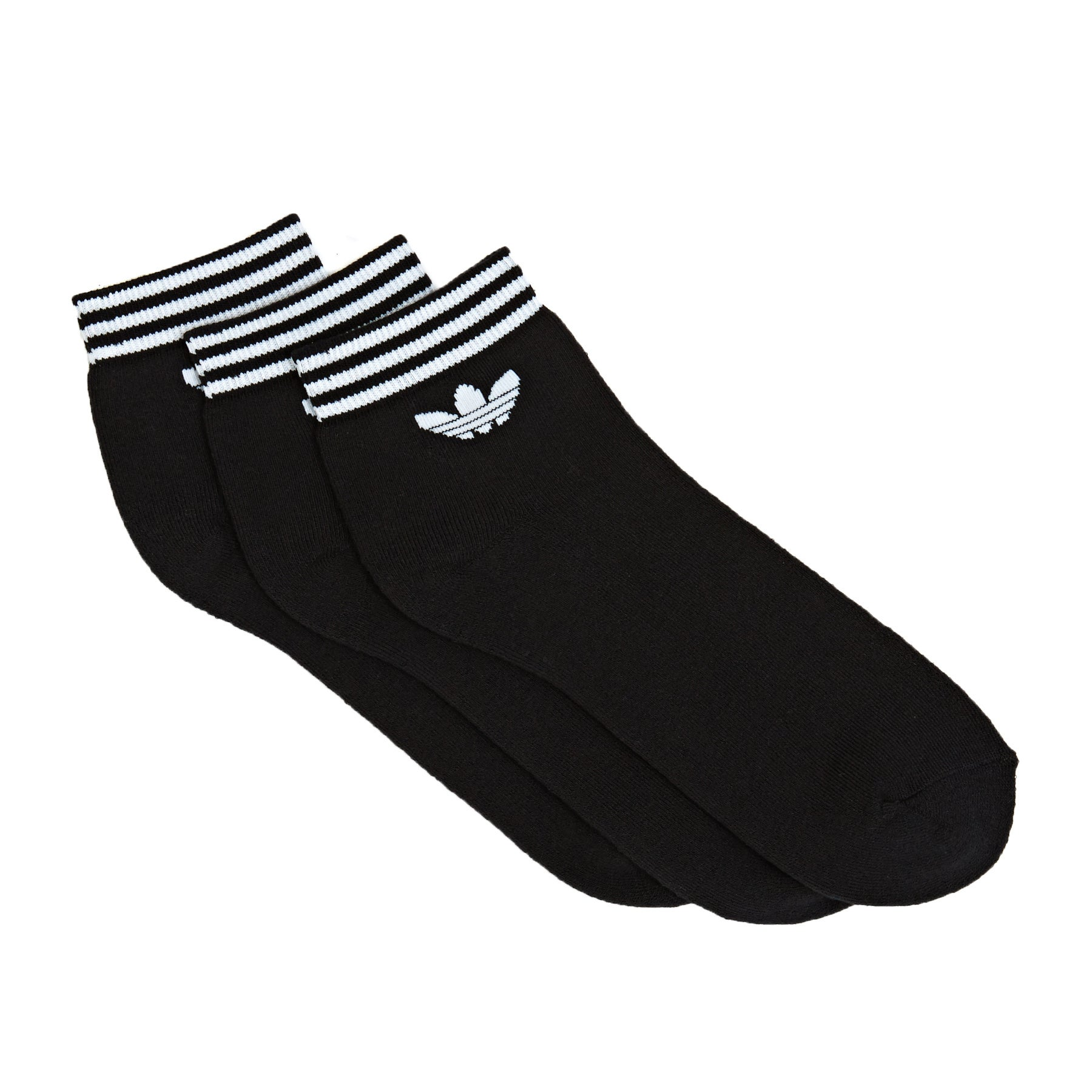 Calcetines Adidas Originals Trefoil Ankle Stripe - Black