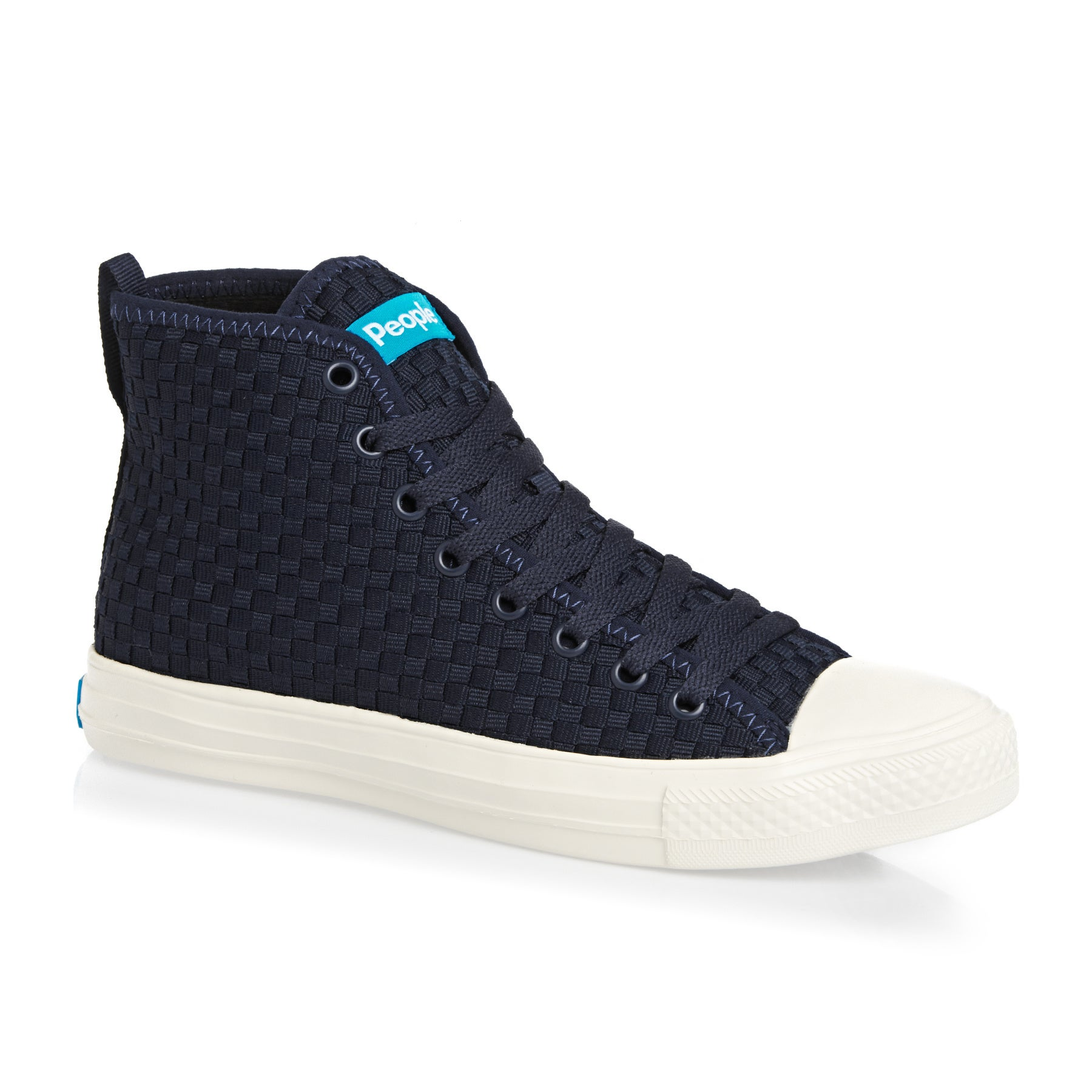 People Footwear The Phillips High Shoes - Paddington Blue Picket White