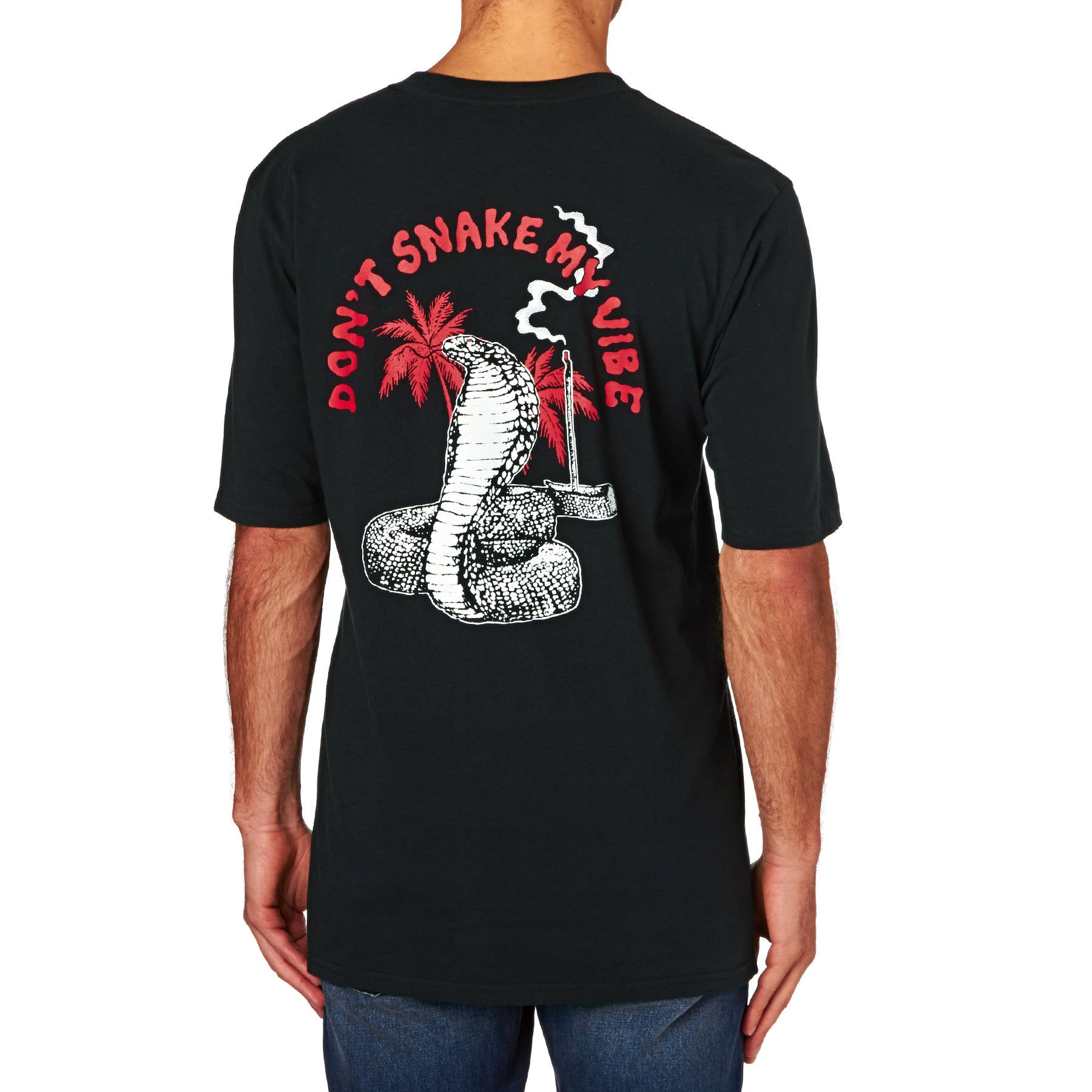 Quiksilver Dont Snake My Vibes Short Sleeve T-Shirt - Black