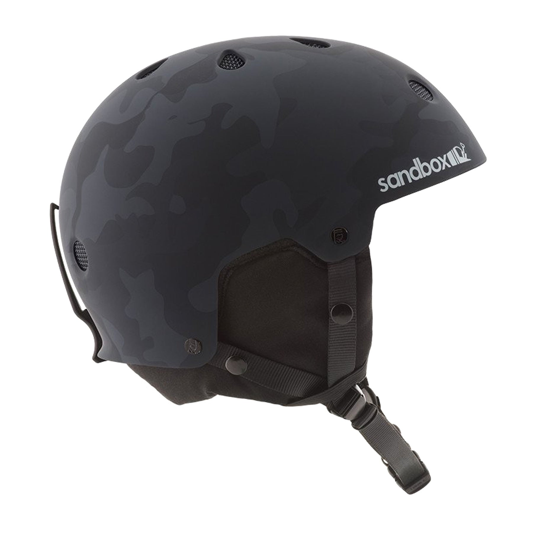 Sandbox Legend Snow Ski Helmet - Black Camo Matte
