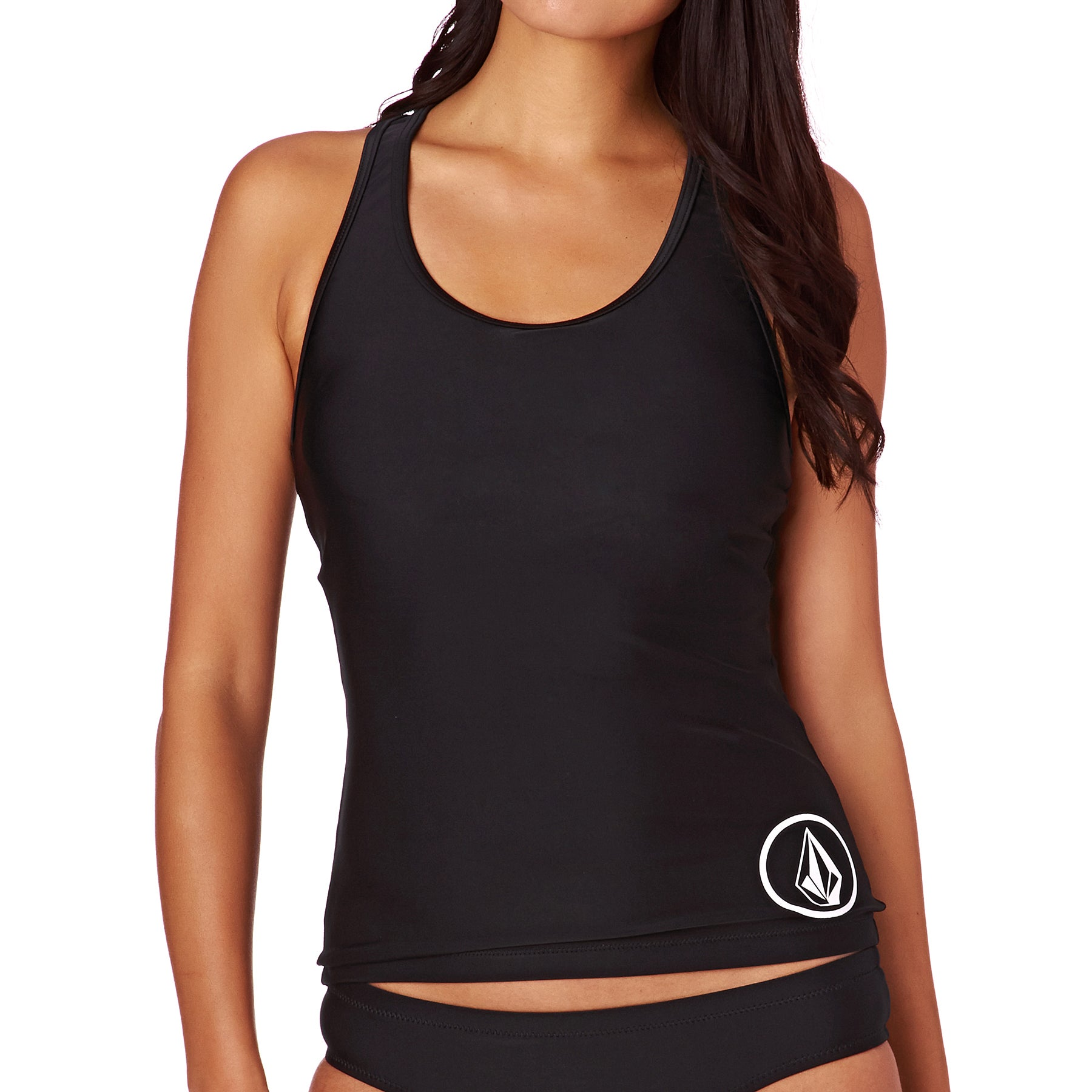 Tankini Top Femme Volcom Simply Solid - Black