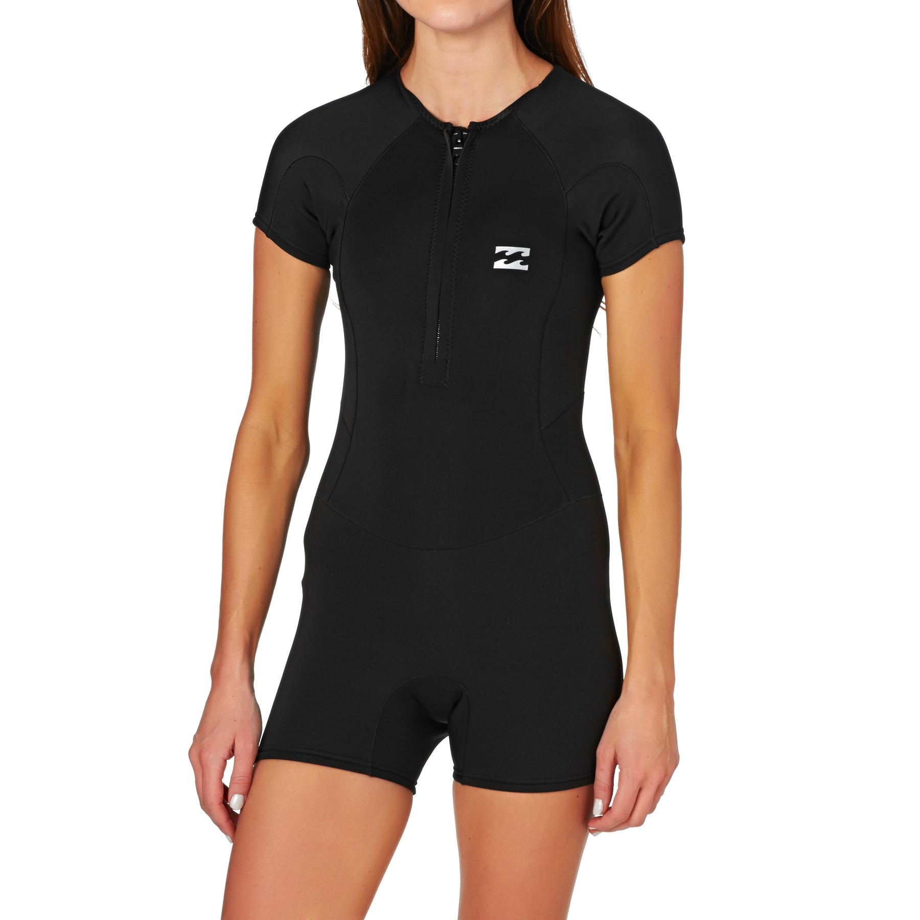 Billabong Synergy 1mm 2017 Front Zip Shorty Womens Wetsuit - Black