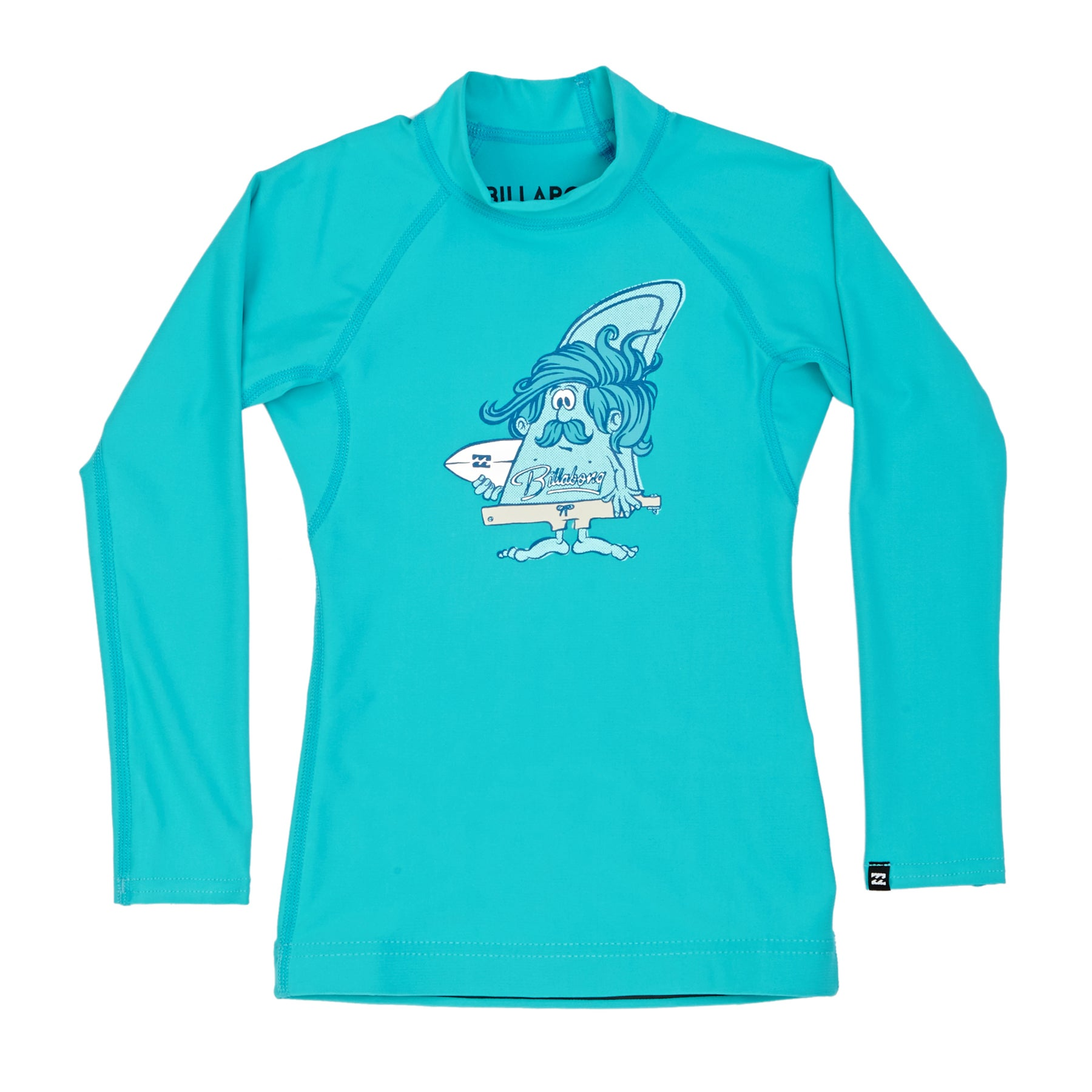 Billabong Finny Long Sleeve Boys Rash Vest - Aqua