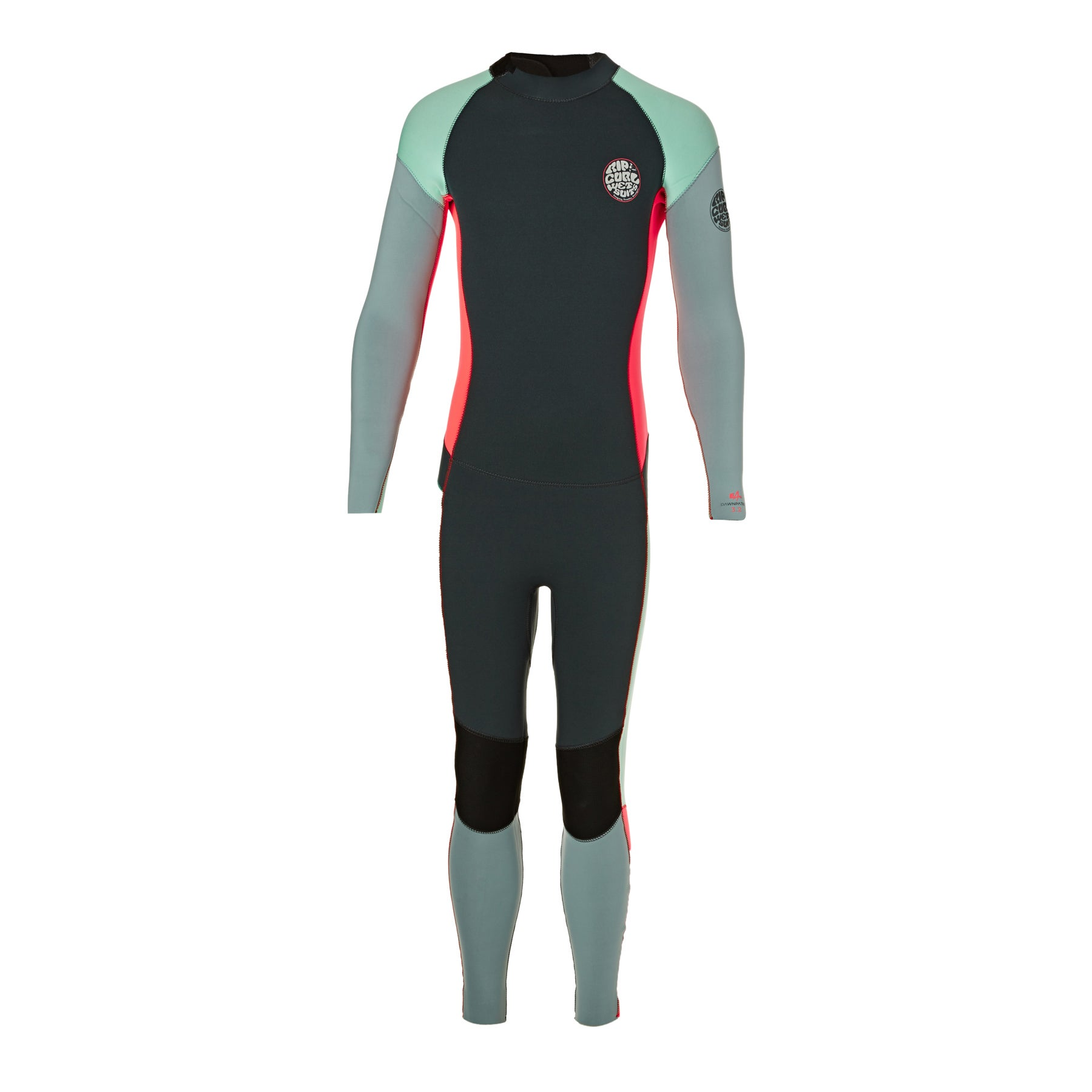 Rip Curl Junior Dawn Patrol 3/2mm Back Zip Girls Wetsuit - Grey
