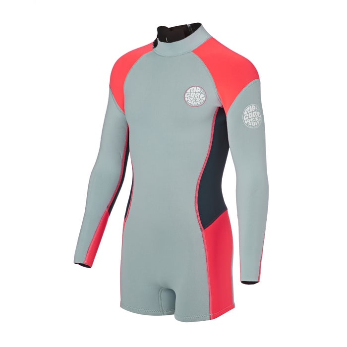 Rip Curl Junior G Bomb 1mm Front Zip Long Sleeve Shorty Girls Wetsuit