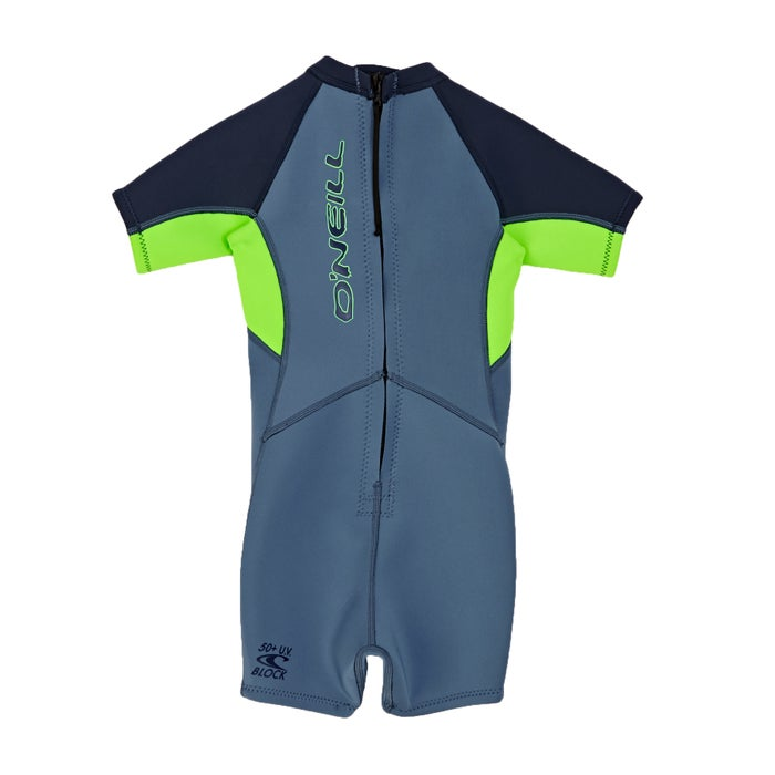 O Neill 2mm Toddler Reactor Back Zip Shorty Boys Wetsuit