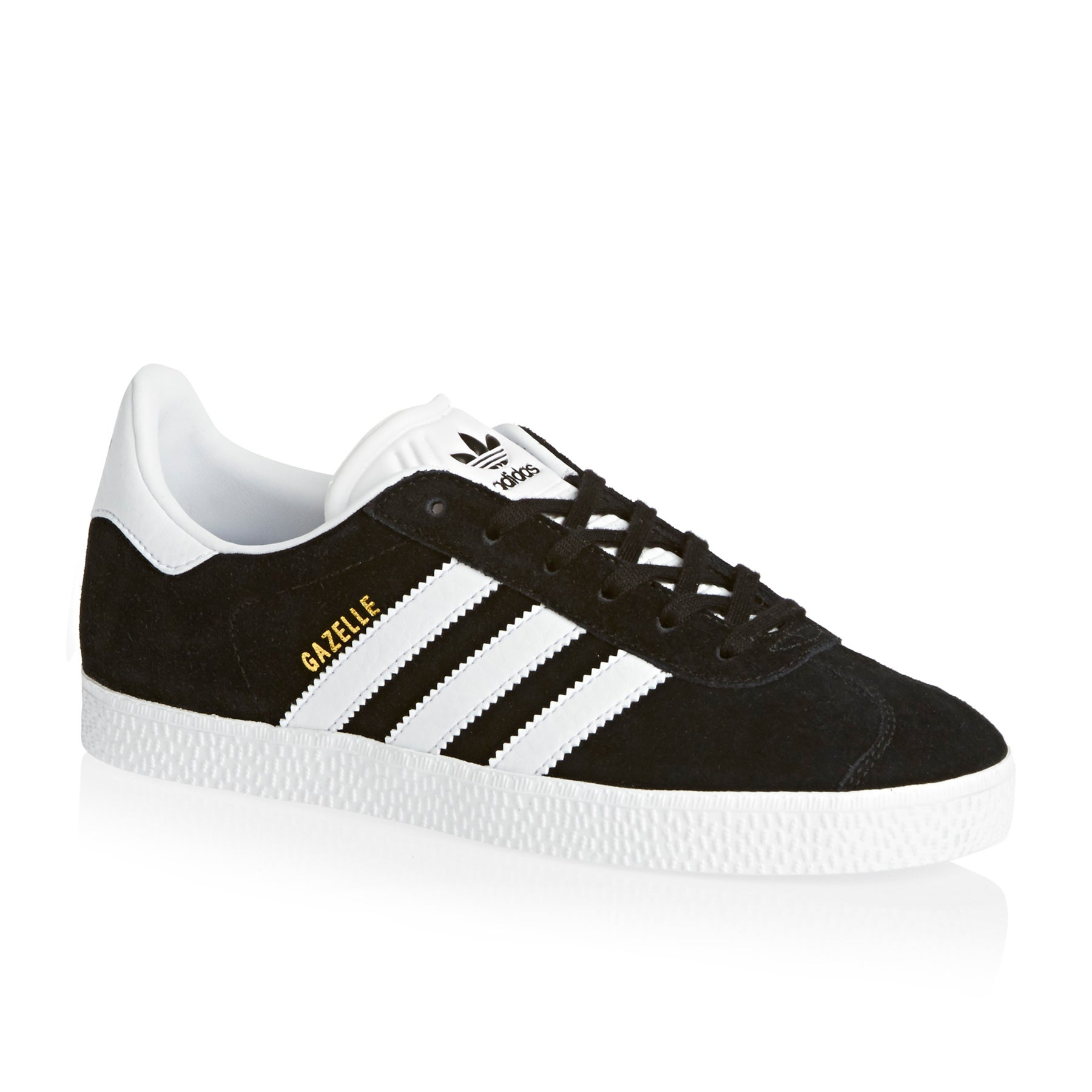 Adidas Originals Gazelle Boys Shoes - Black White Gold Metallic