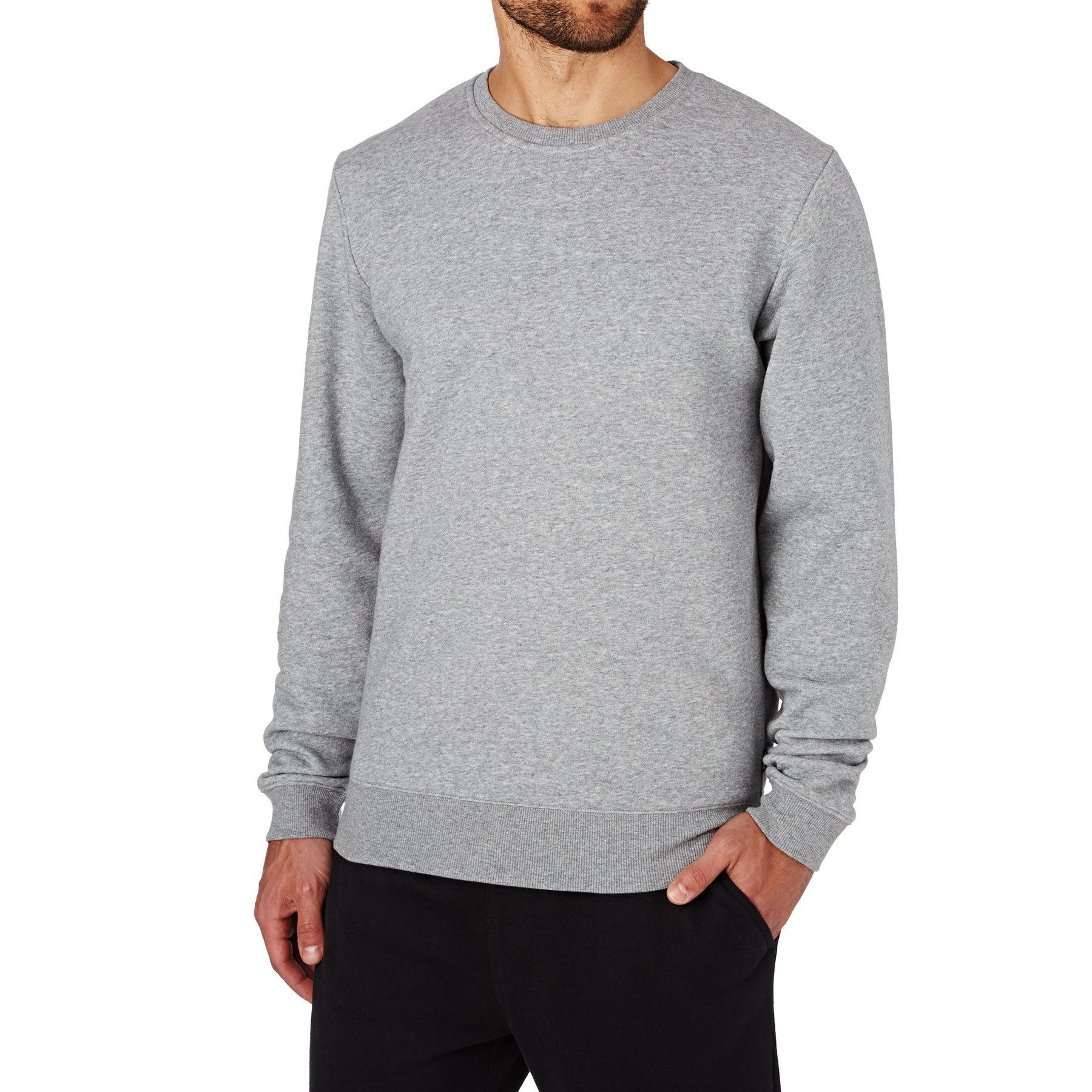 SWELL Basic Crew Sweater - Grey Marl