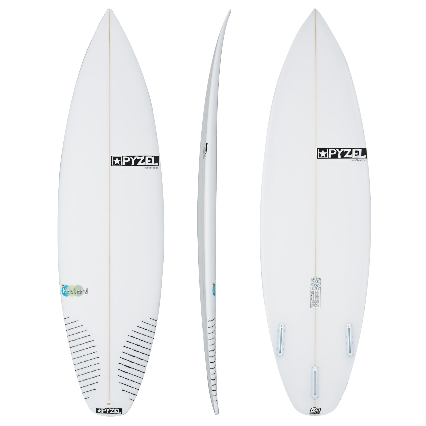 Pyzel The B*stard Futures Thruster Surfboard - White