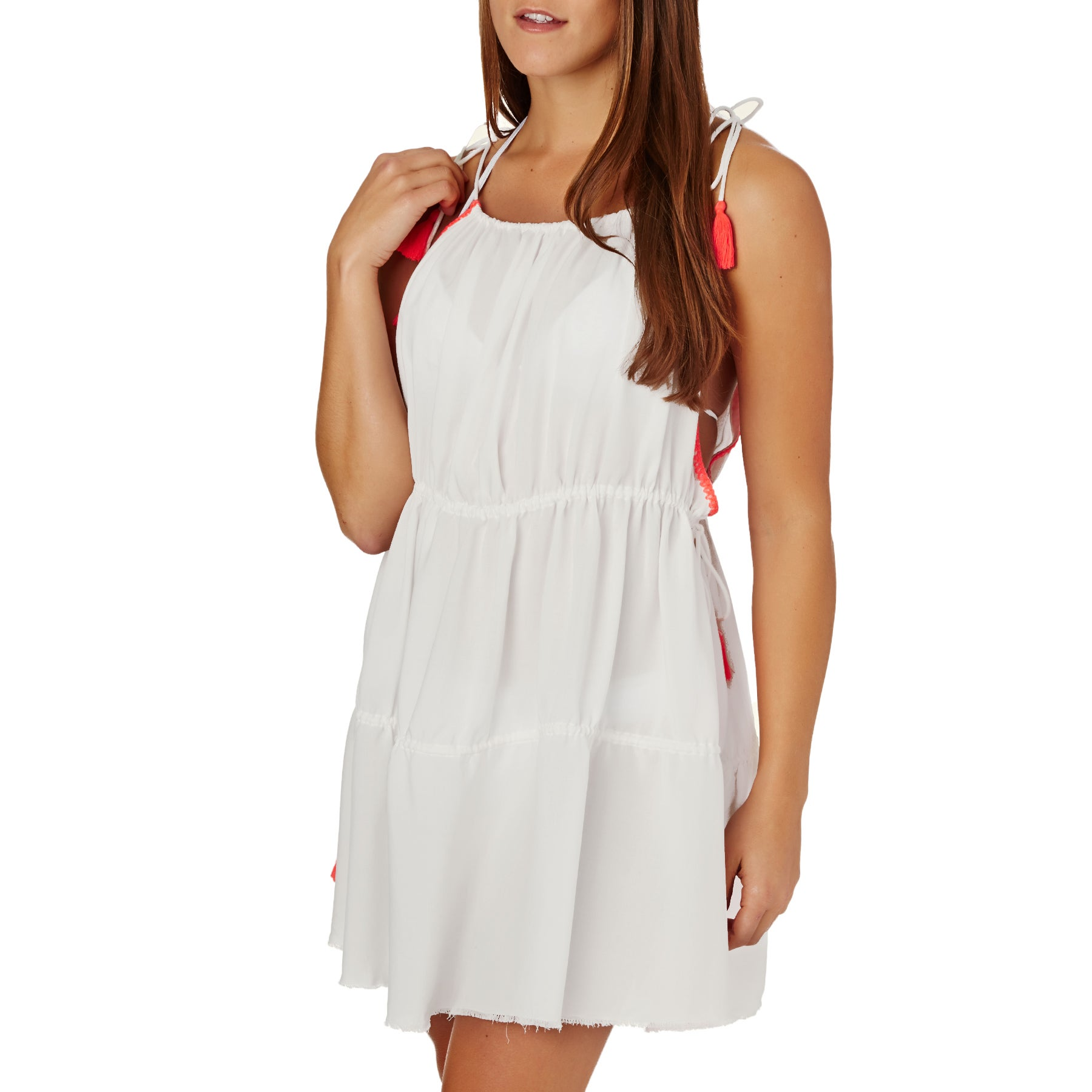 Little White Lies Dibe Cover Up Womens Dress - Snow