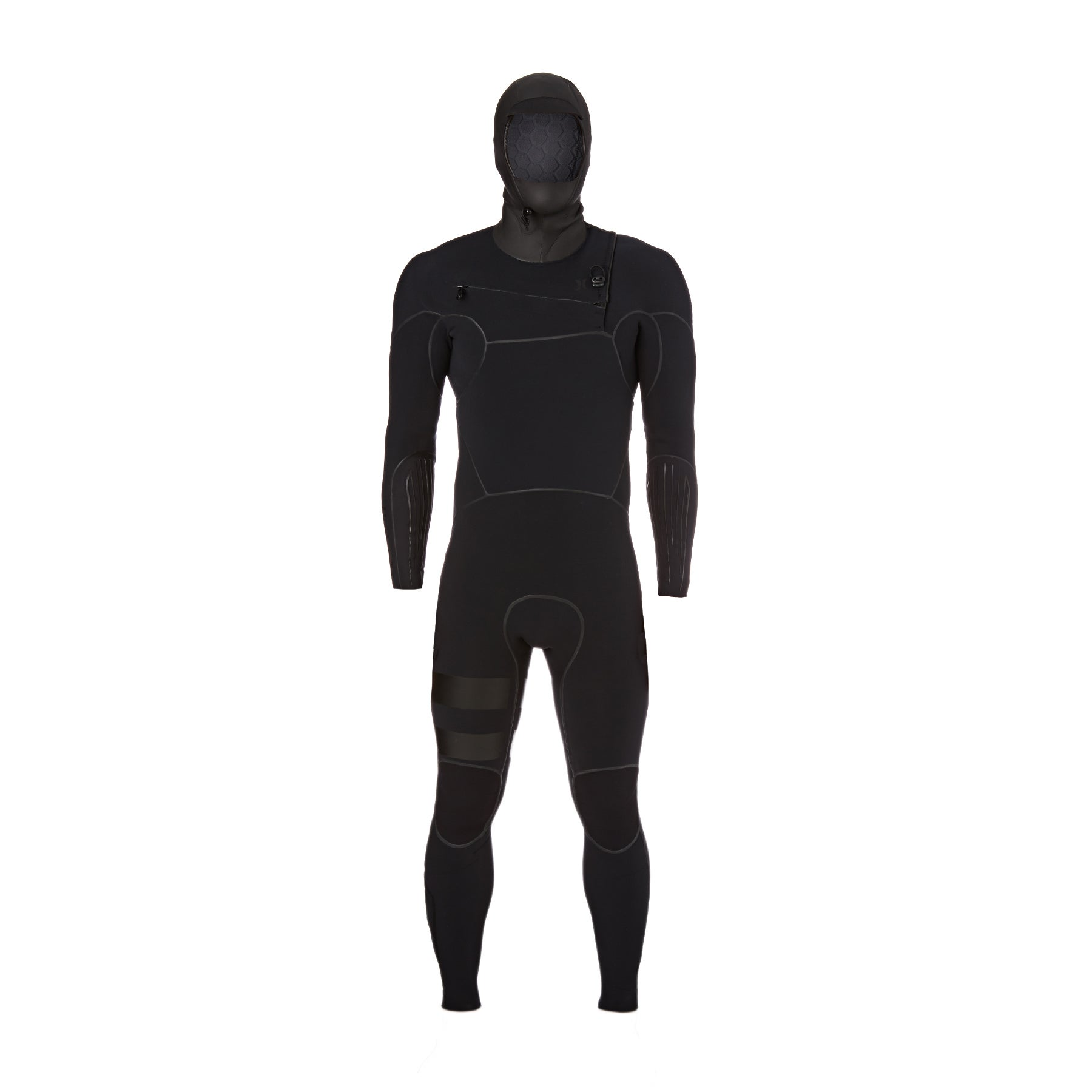Hurley Advantage Max 5/4mm Chest Zip Hooded Wetsuit - Black