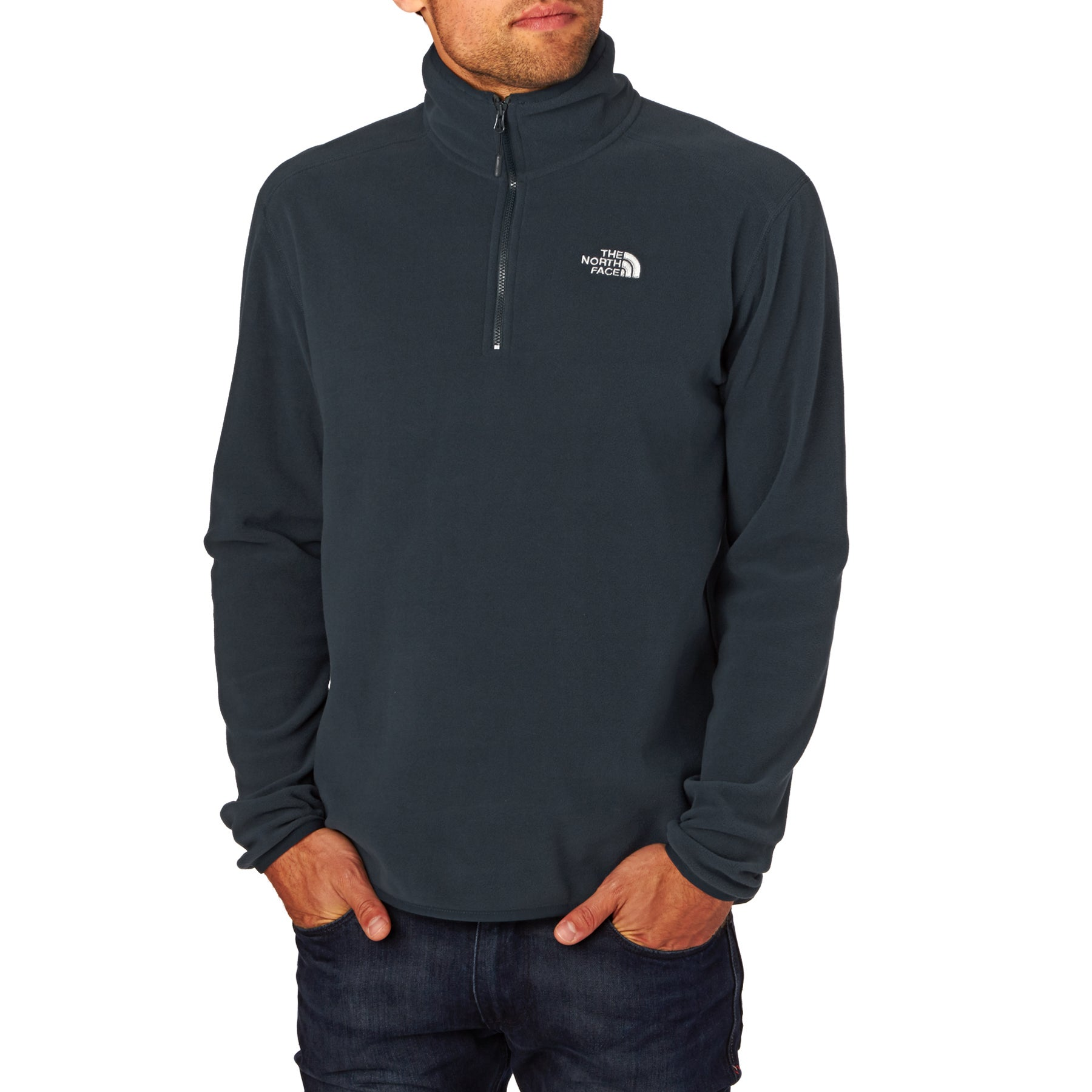 North Face 100 Glacier Quarter Zip Fleece - Urban Navy