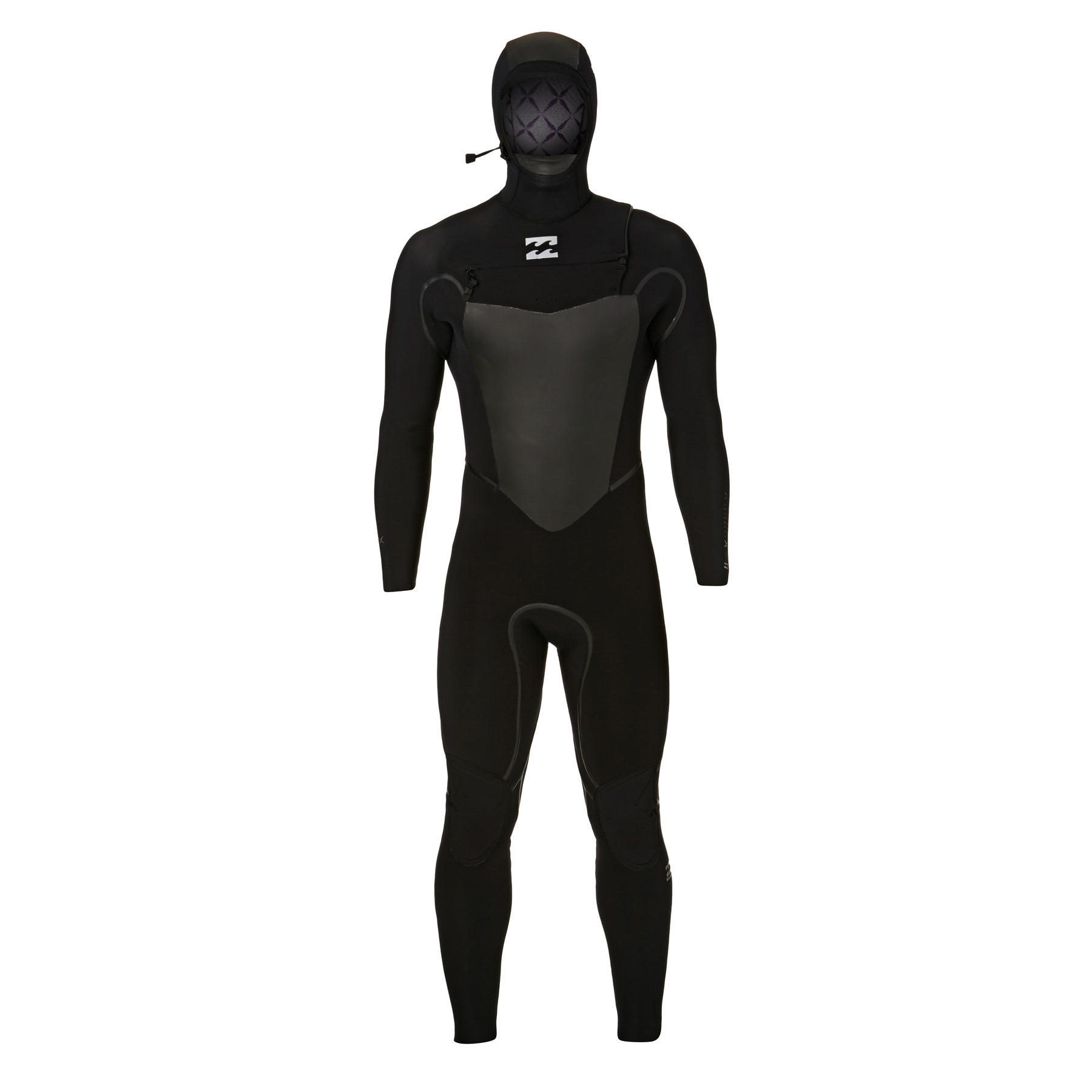 Billabong 7/6mm 2018 Furnace Carbon X Hooded Chest Zip Wetsuit - Black