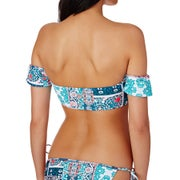 Seafolly Silk Market Cold Shoulder Bandeau Bikini Top