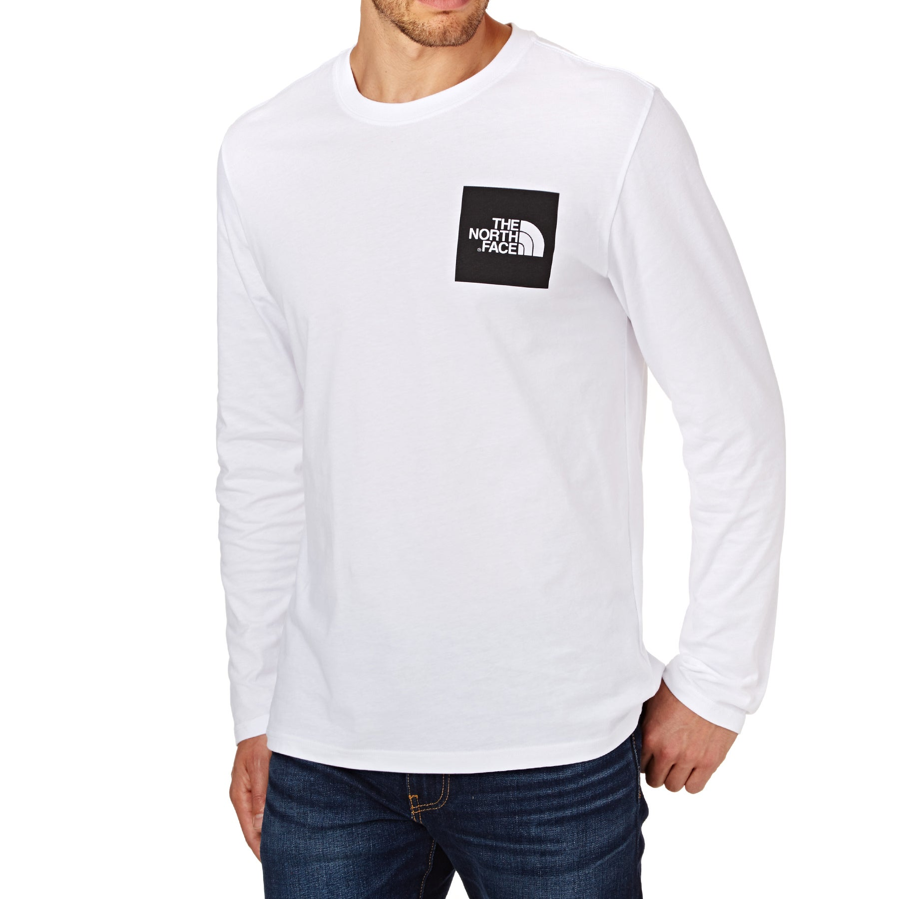 North Face Fine Long Sleeve T-Shirt - TNF White