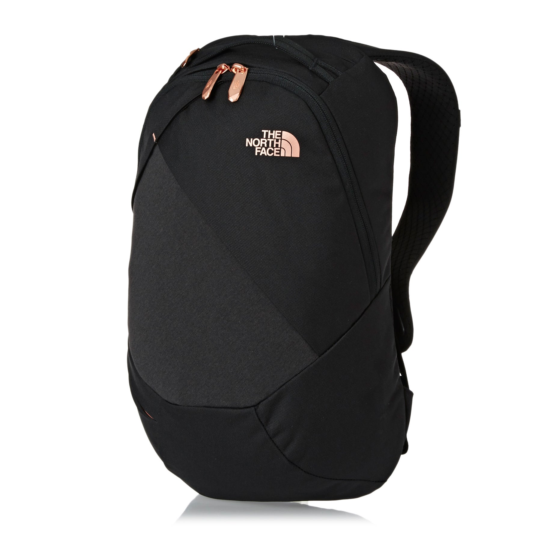 North Face Electra Womens Backpack - TNF Black Heather Burnt Coral Metallic