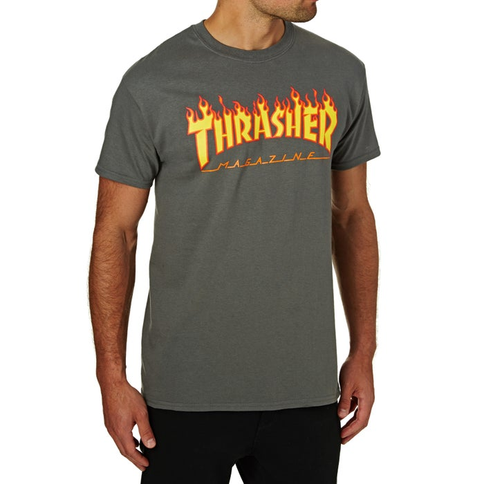 e4abf40366a Thrasher Flame Logo Short Sleeve T-Shirt available from Surfdome