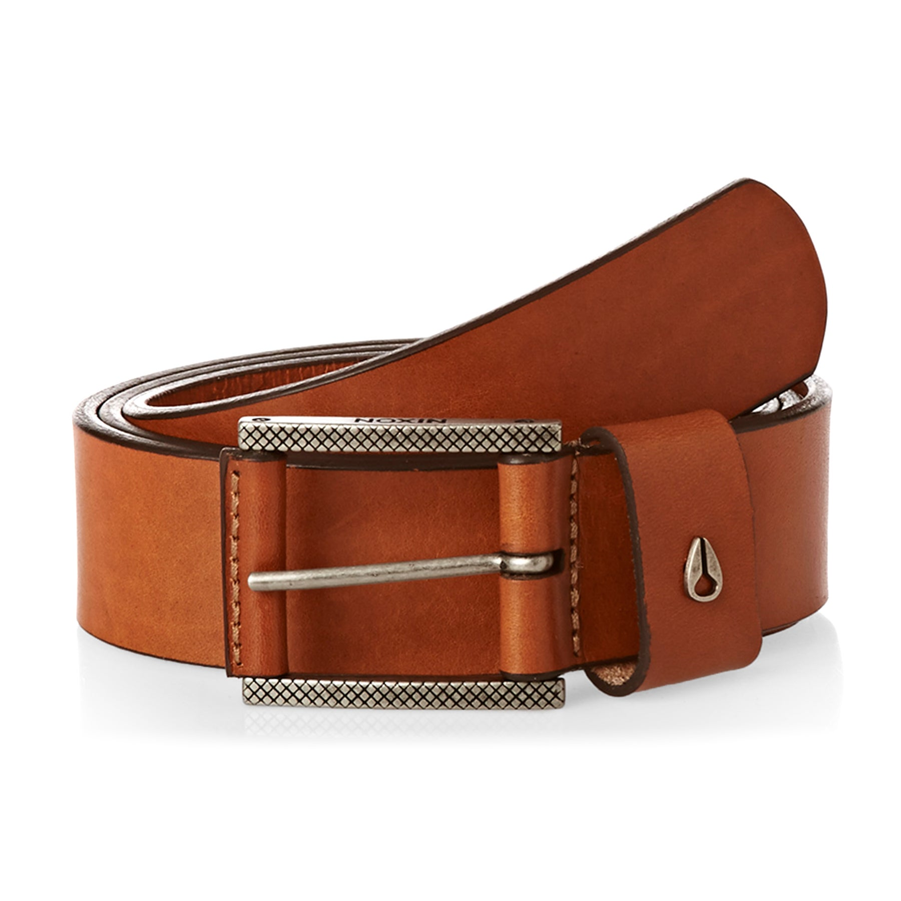 Nixon Americana II Leather Belt - Saddle