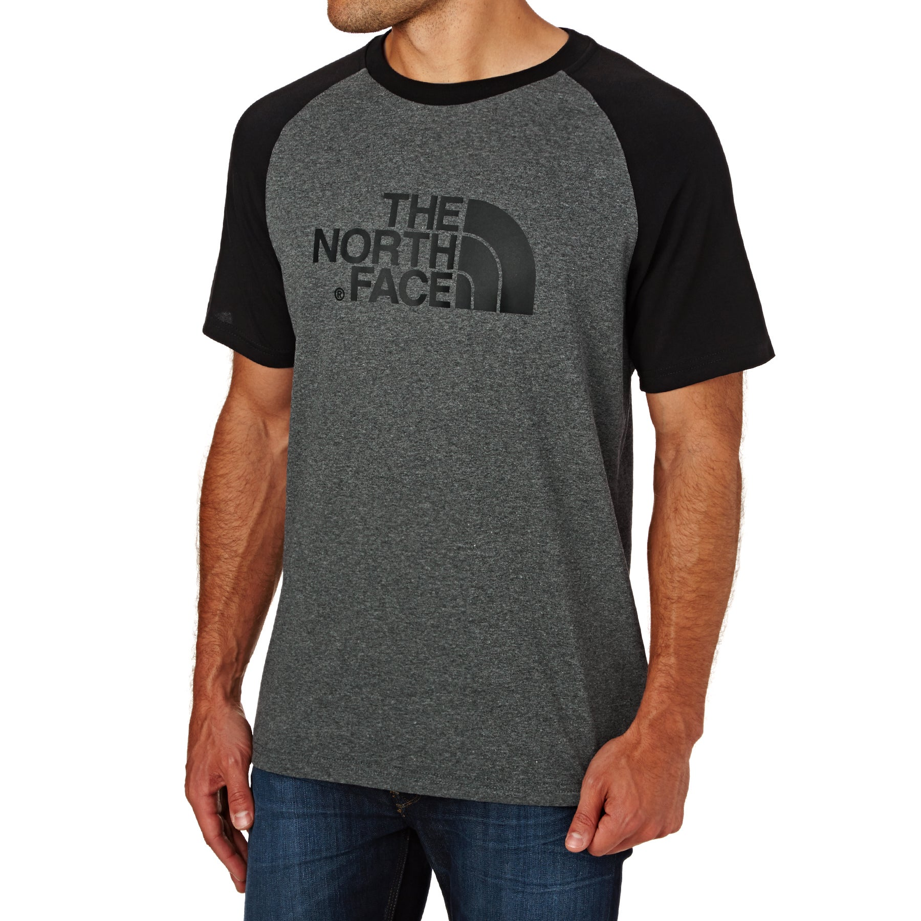 North Face Raglan Easy Short Sleeve T-Shirt - TNF Medium Grey Heather