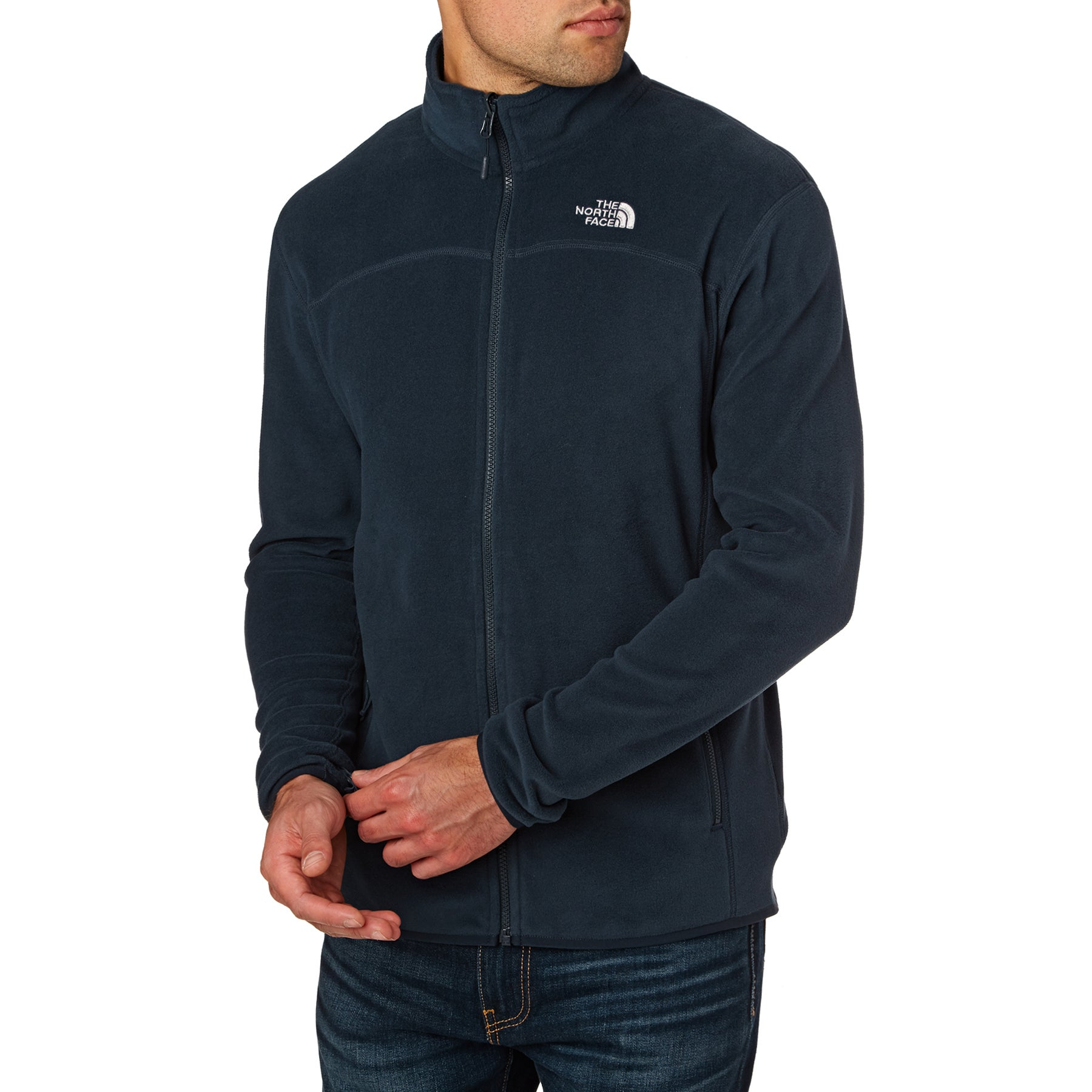 North Face 100 Glacier Full Zip Fleece - Urban Navy