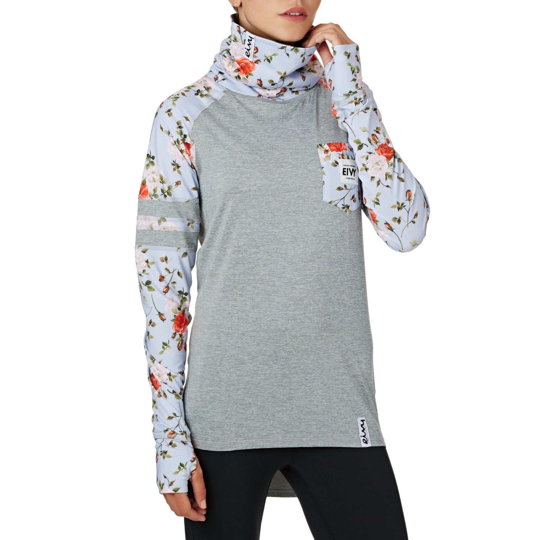 Eivy Icecold Zip Womens Base Layer Top - Rose