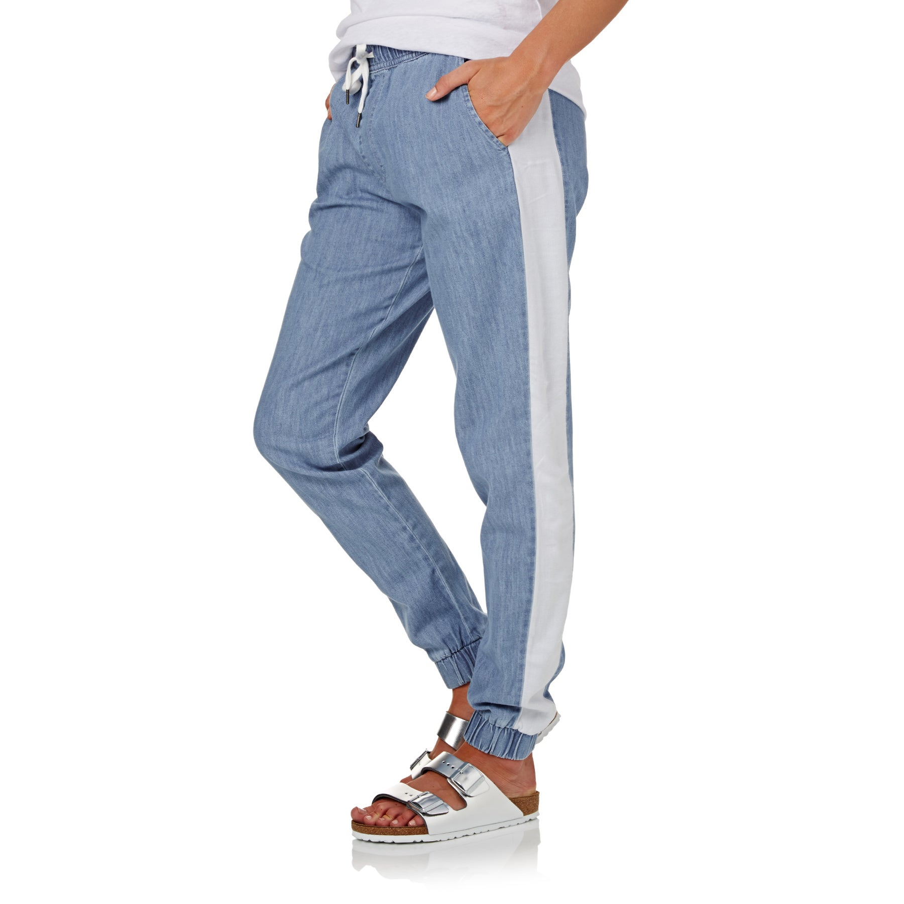 SWELL Gena Chambray Womens Trousers - Blue