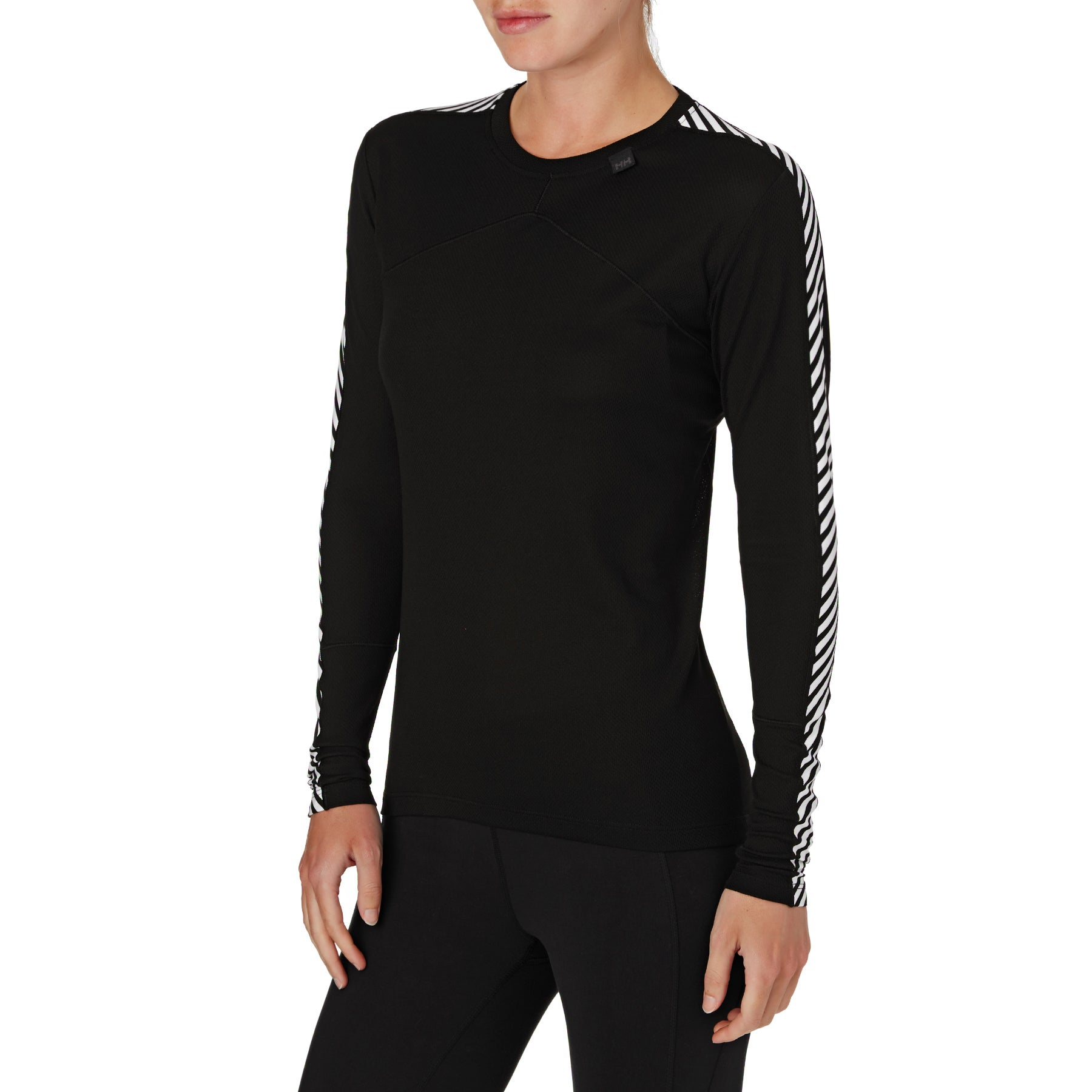 Helly Hansen Lifa Thermal Crew LS Womens Base Layer Top - Black