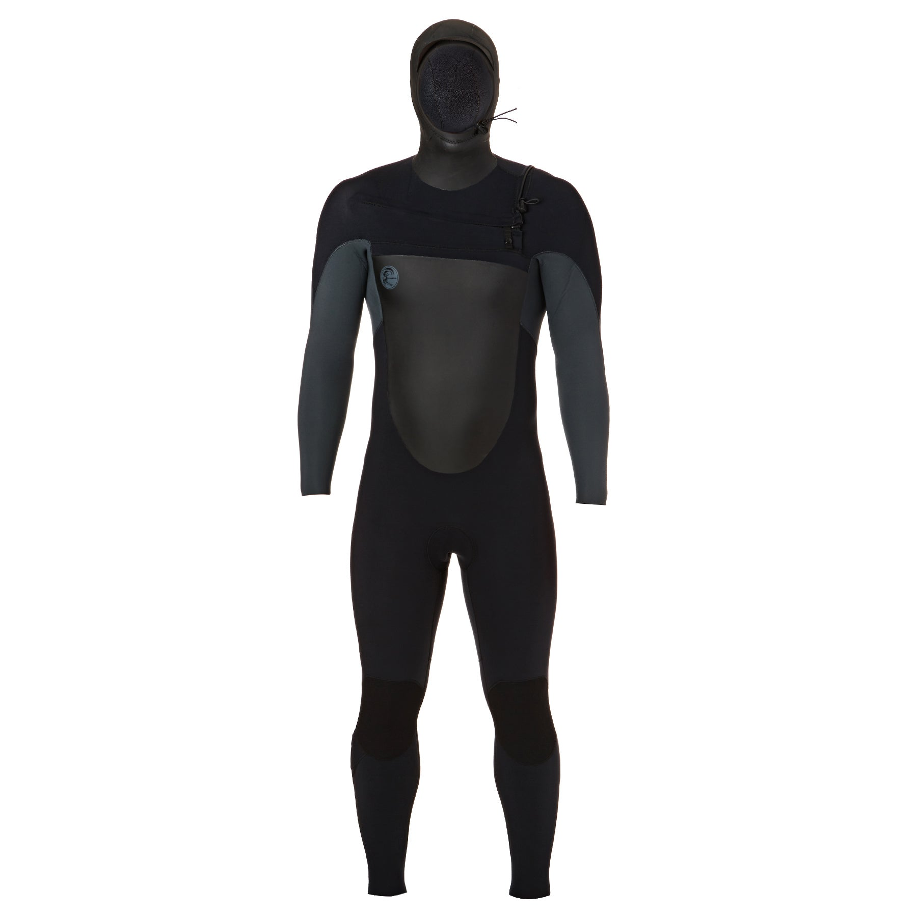 O Neill O'riginal 6/5/4mm 2018 Chest Zip Hooded Wetsuit - Black Graphite