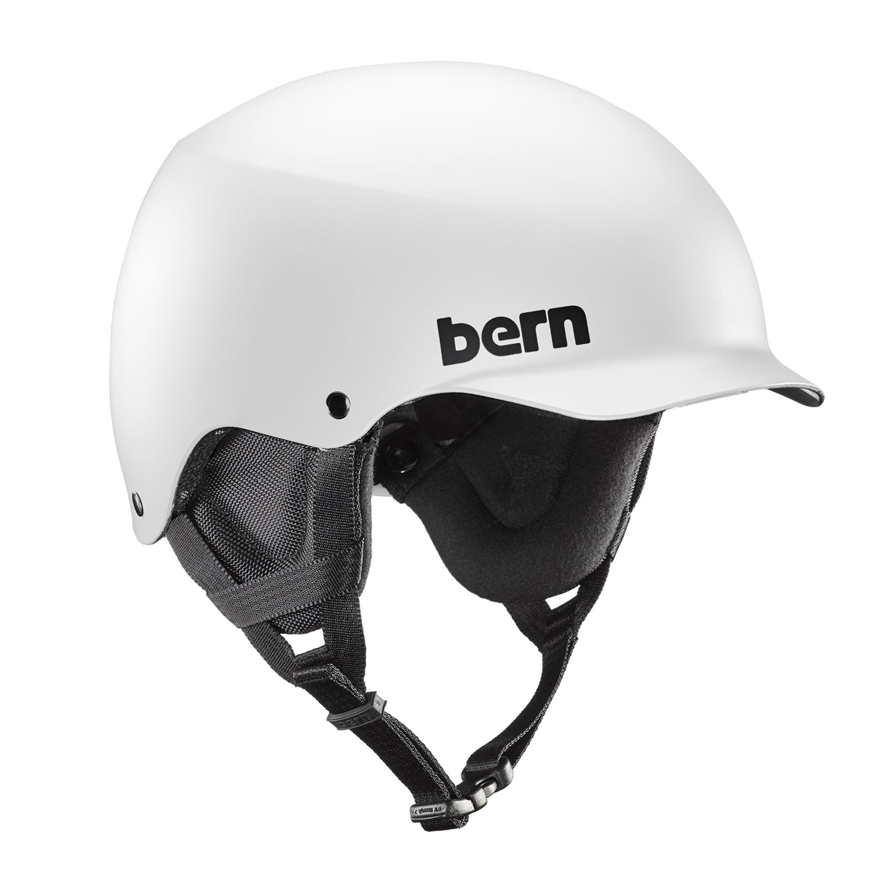 Bern Team Baker Ski Helmet - Gloss White ~ Black Liner