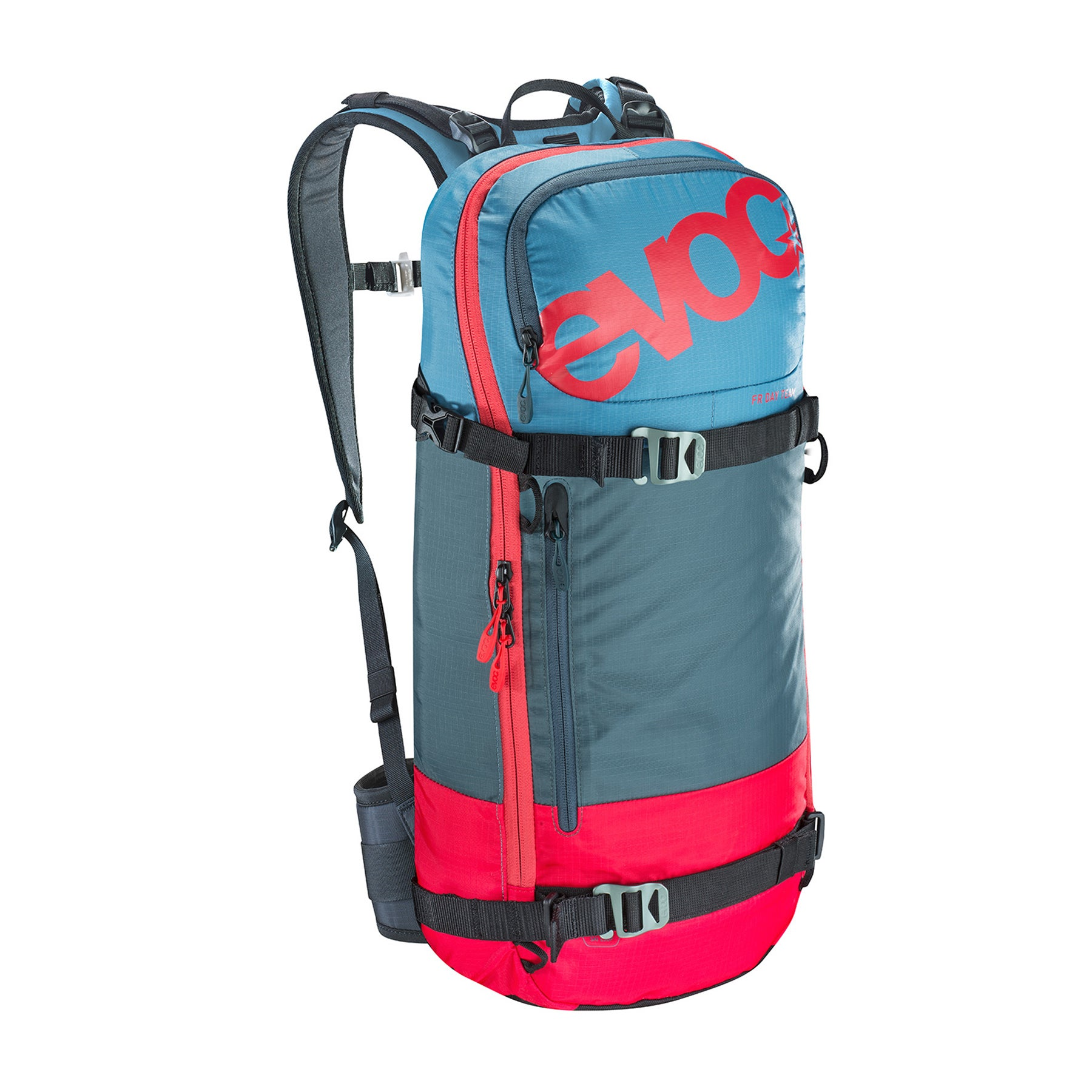 EVOC FR Day Team 16l Snow Backpack - Red/Slate/Copen Blue