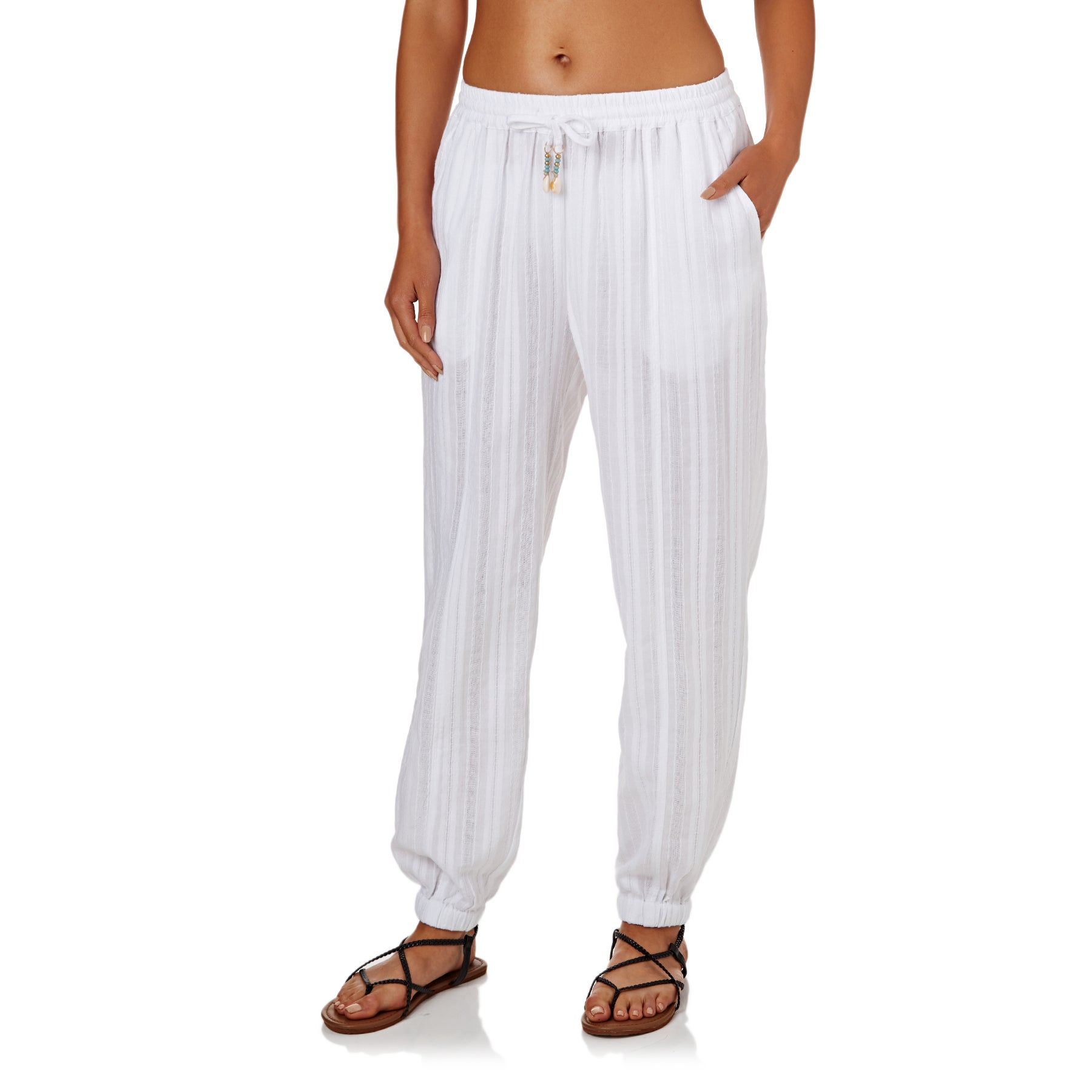 Pantalon Femme Seafolly Washed Dobby Beach - White