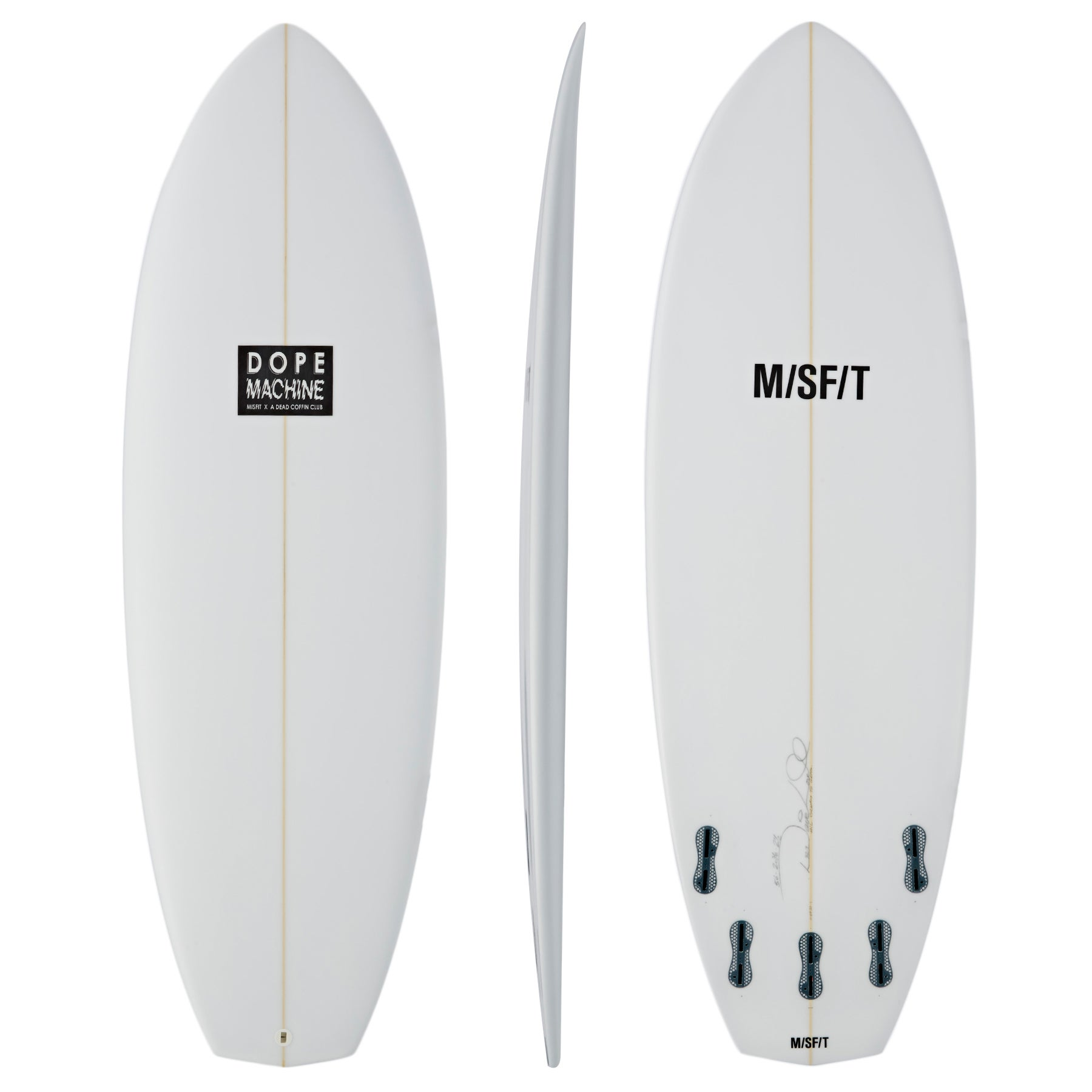 Surfboard Misfit Dope Machine FCS II 5 Fin - White