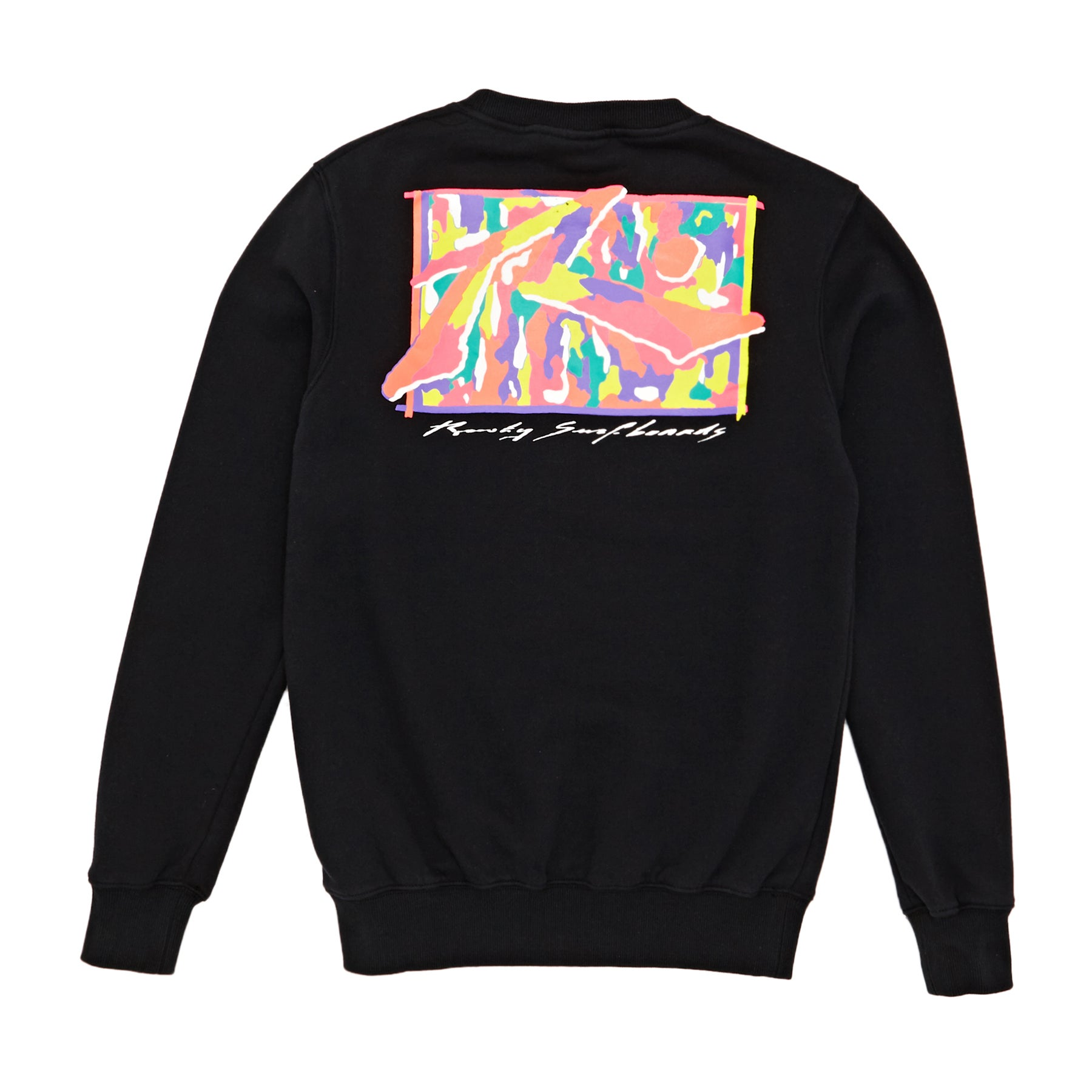 Rusty Camo R Dot Crew Boys Sweater - Black